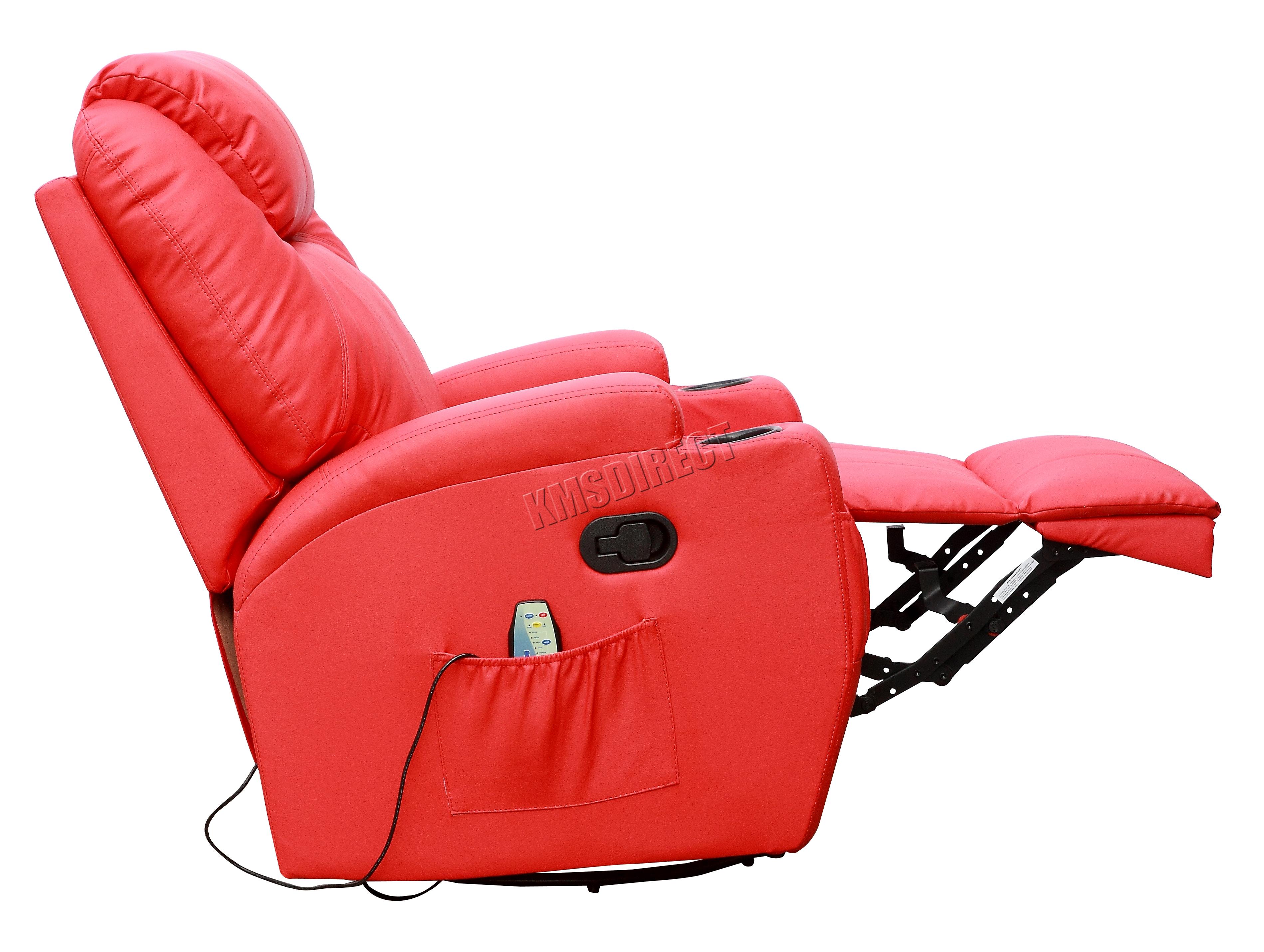 Sofá de butaca reclinable con sistema de masaje de cuero reconstituido Westwood-4849