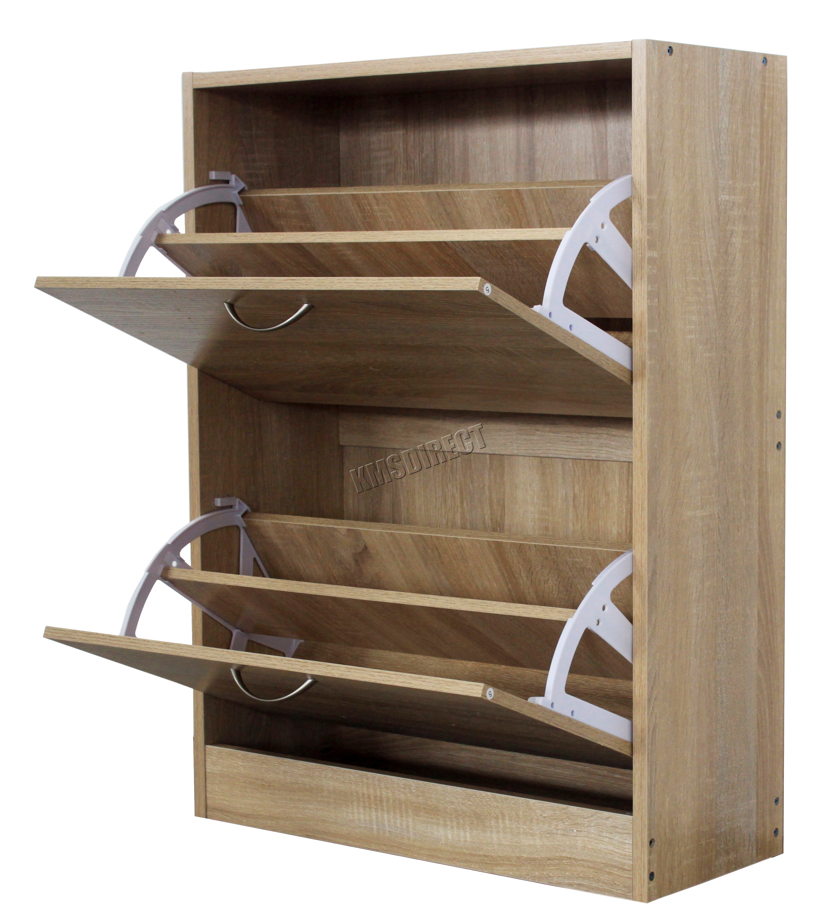 FoxHunter Wooden Shoe Storage Cabinet 2 Drawer Footwear Stand Rack ...