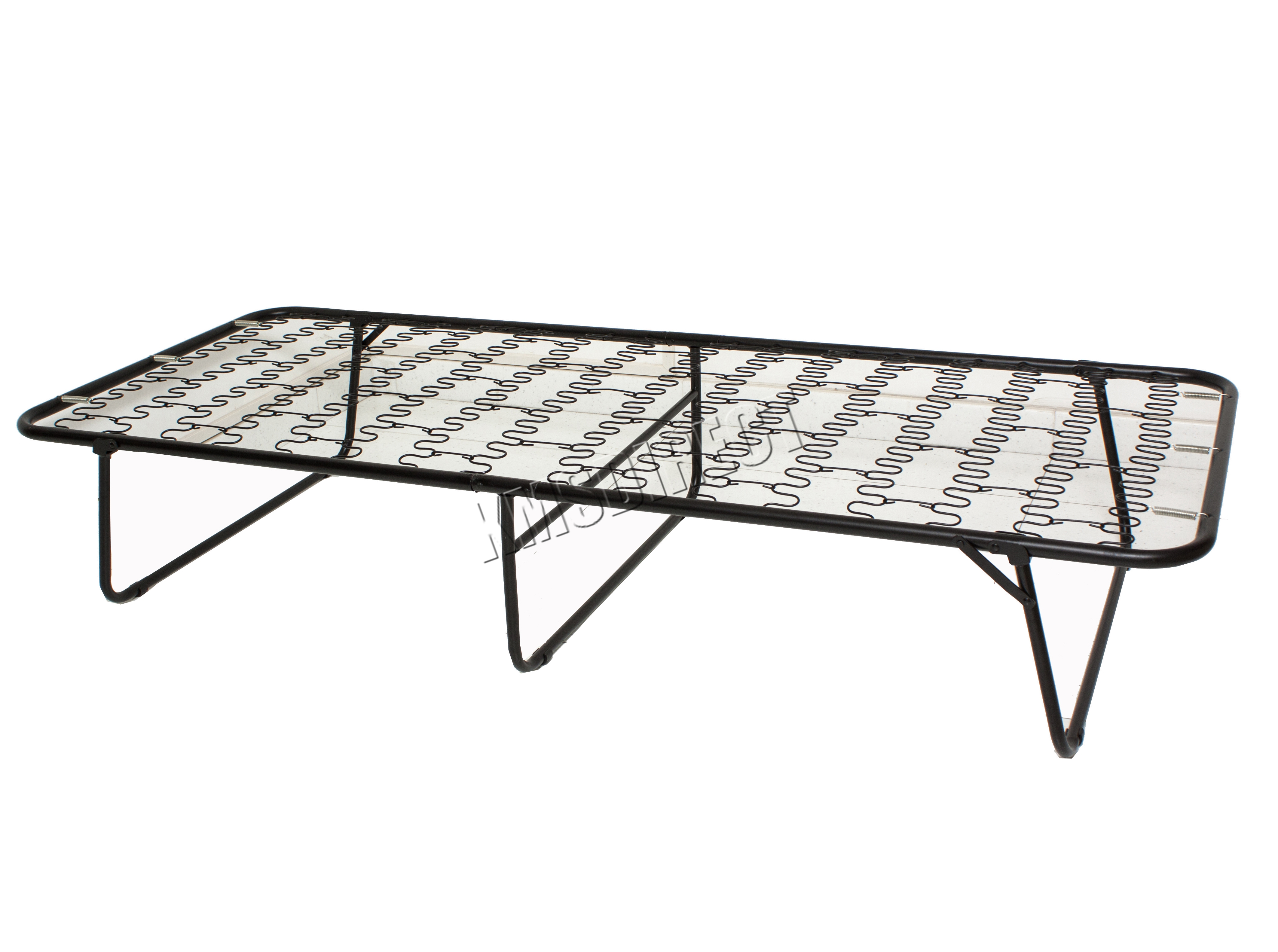 FoxHunter Metal Single Folding Guest Visitor Compact Bed ...