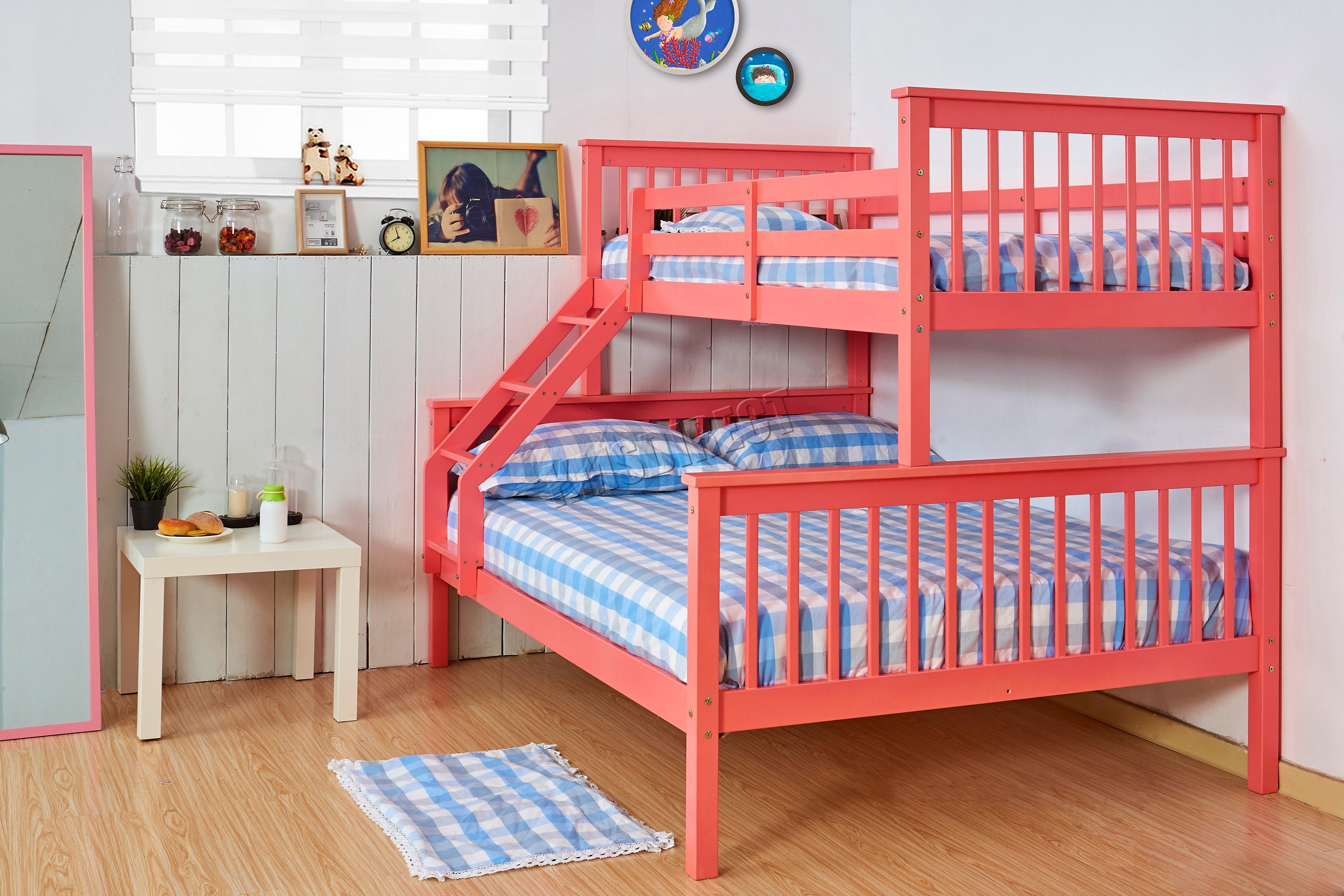Westwood Bunk Bed Wooden Frame Children Triple Sleeper No Mattress