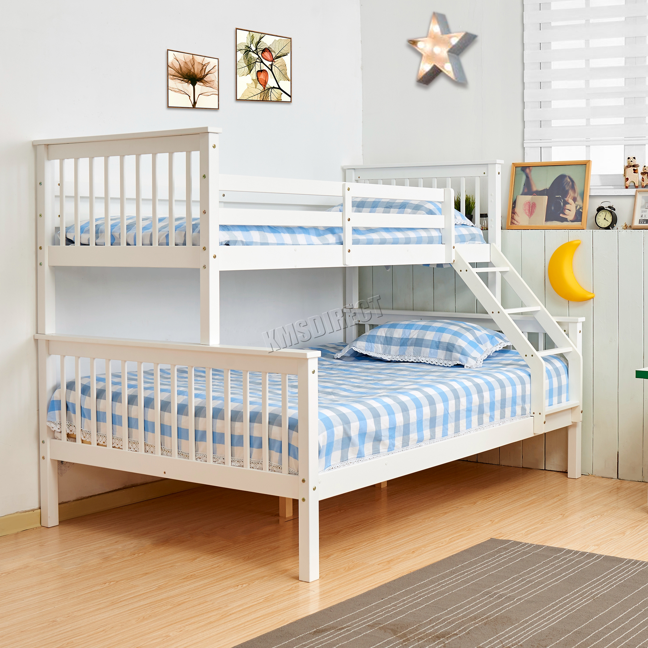 foxhunter lit superpos cadre en bois enfants triple sans matelas 0 9 m 1 2 ebay. Black Bedroom Furniture Sets. Home Design Ideas