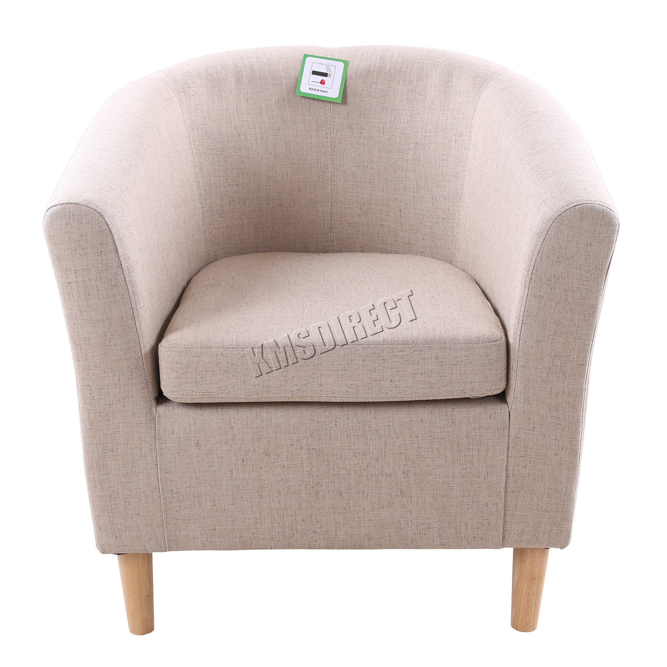 Sentinel FoxHunter Linen Fabric Tub Chair Armchair Dining Living Room  Lounge Office TC03 Part 62