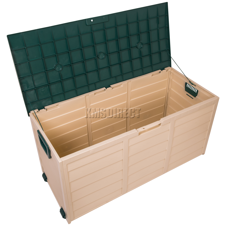 starplast outdoor garden plastic storage utility chest cushion shed box 280l ebay. Black Bedroom Furniture Sets. Home Design Ideas