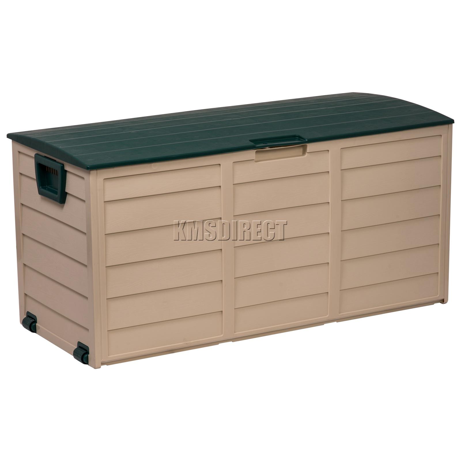 Coffre A Coussin Exterieur détails sur starplast extérieur jardin rangement plastique utility coffre  coussin Étable box