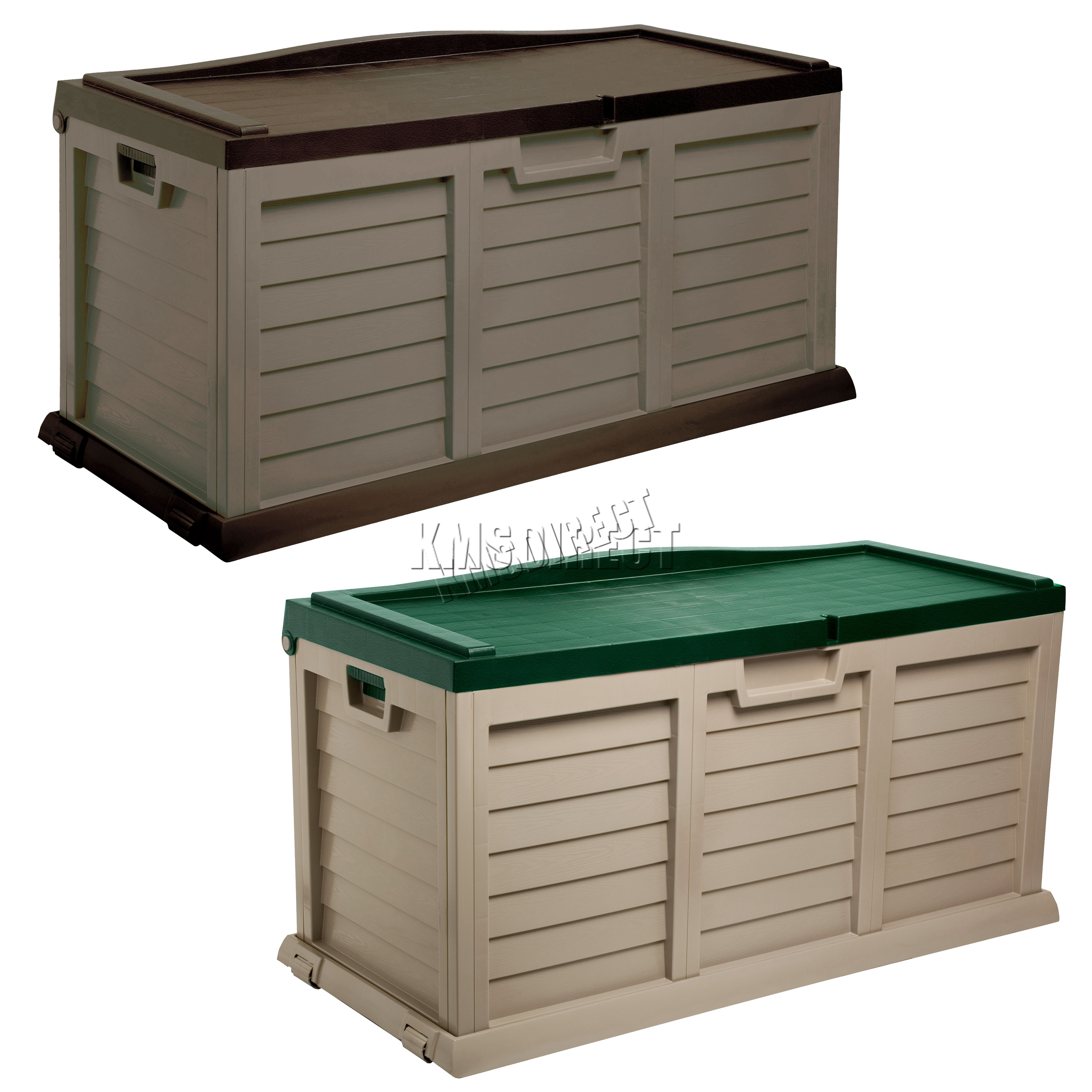 Starplast Outdoor Garden Storage Utility Chest Cushion Box Case 440l