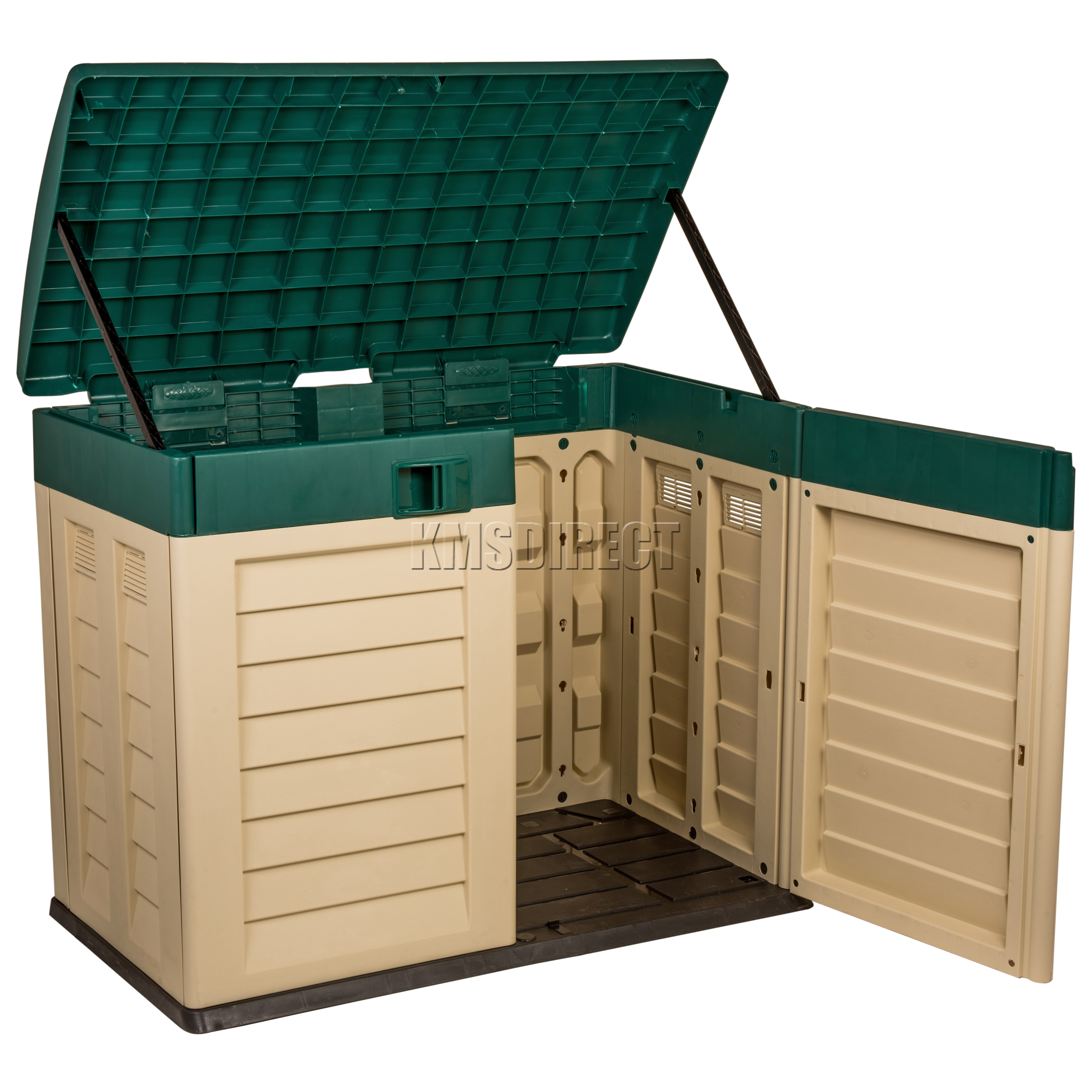 Outside Storage Units: Starplast Outdoor Plastic Garden Low Bin Shed Box Chest