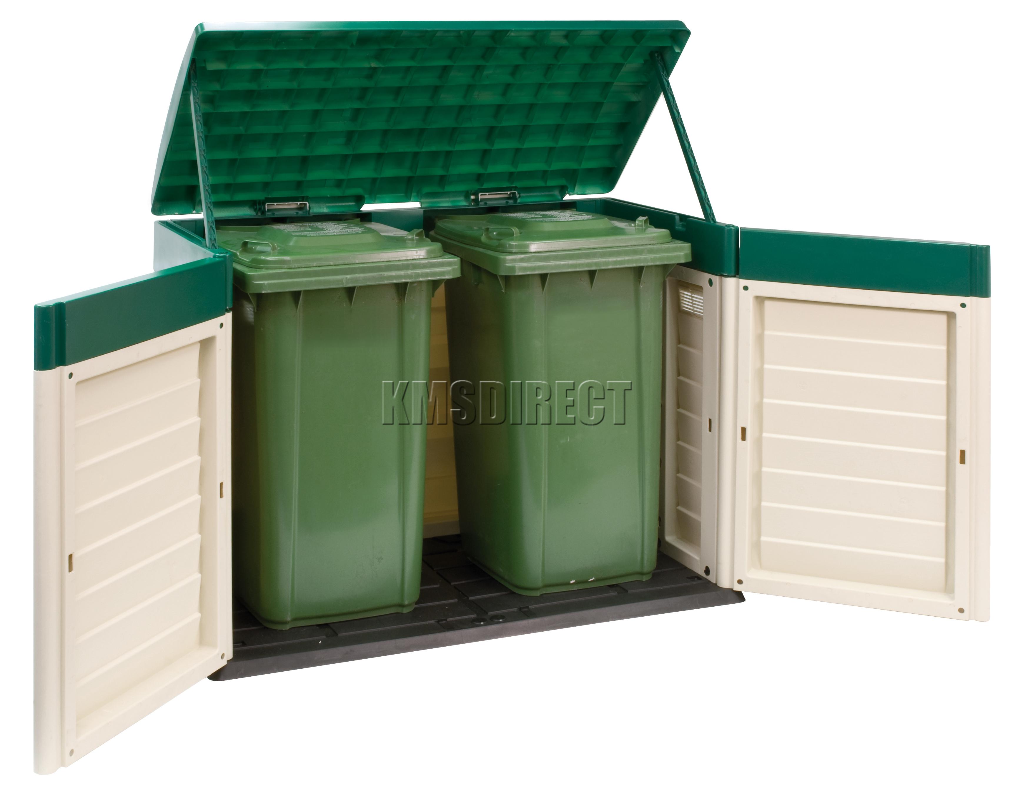 Starplast Outdoor Plastic Garden Low Bin Shed Box Chest