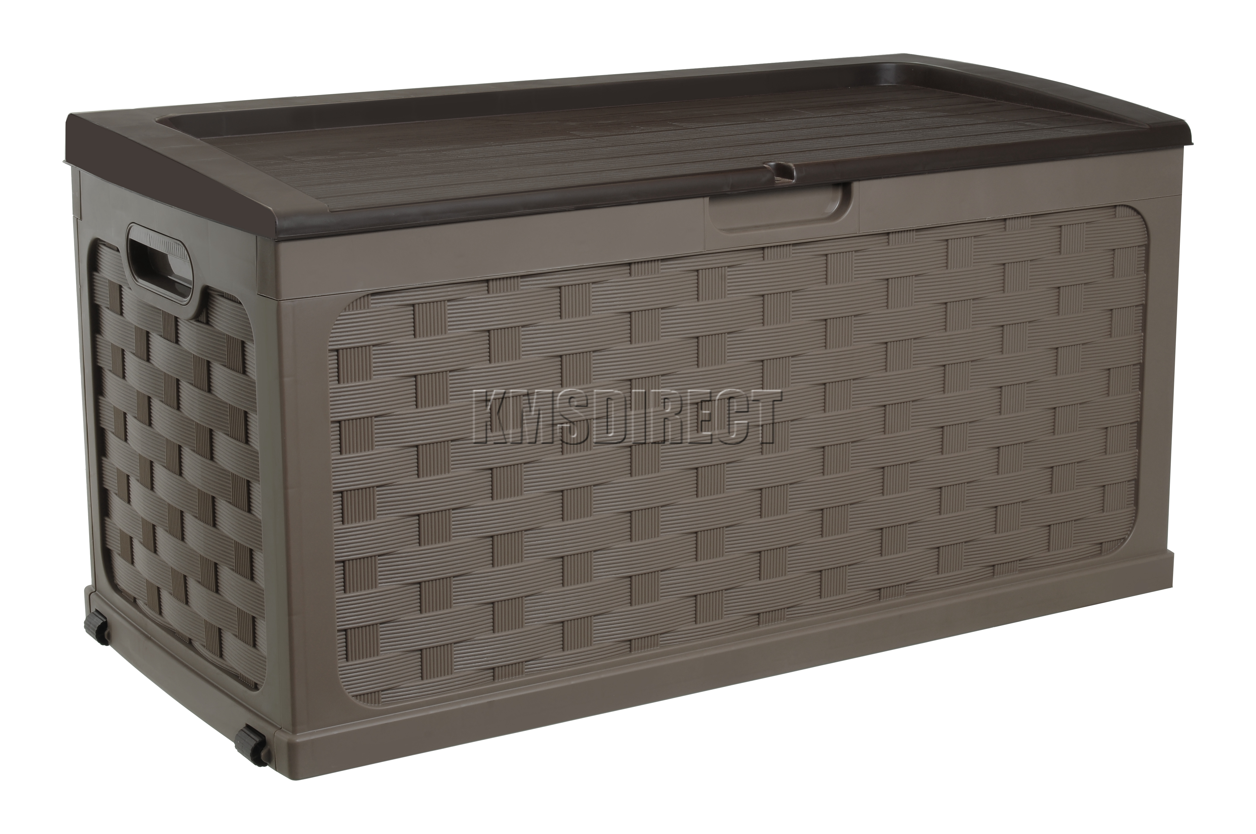 starplast jardin rotin style plastique coffre rangement table boite d couvercle ebay. Black Bedroom Furniture Sets. Home Design Ideas
