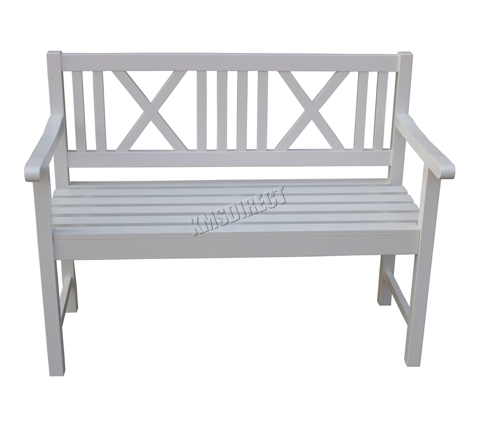 Swell Details About Westwood Outdoor Home 2 Seater Garden Bench Fir Wood Picnic Patio Ob01 White Ncnpc Chair Design For Home Ncnpcorg