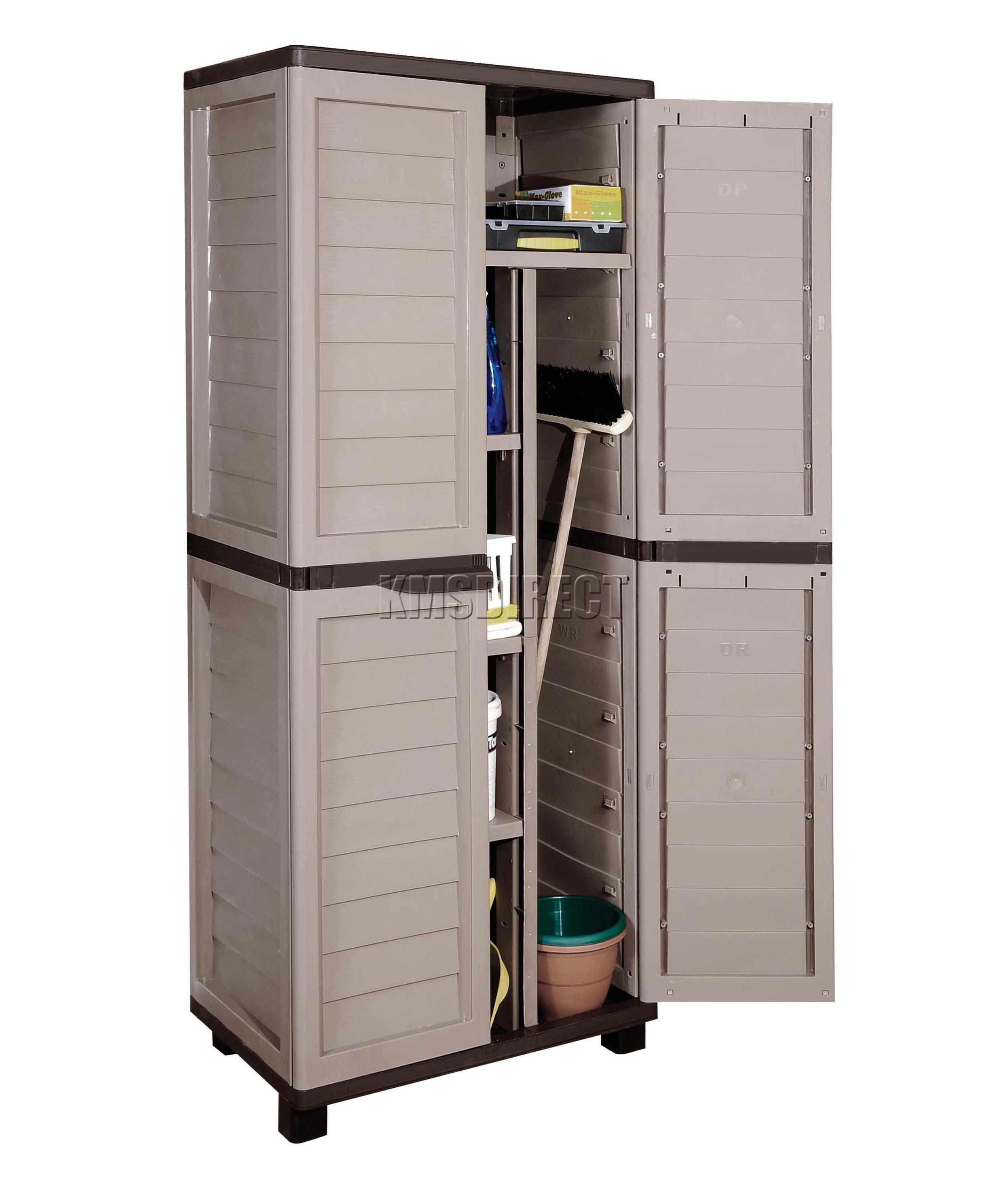 Starplast Outdoor Plastic Garden Utility Cabinet With Partition Storage Garage Ebay