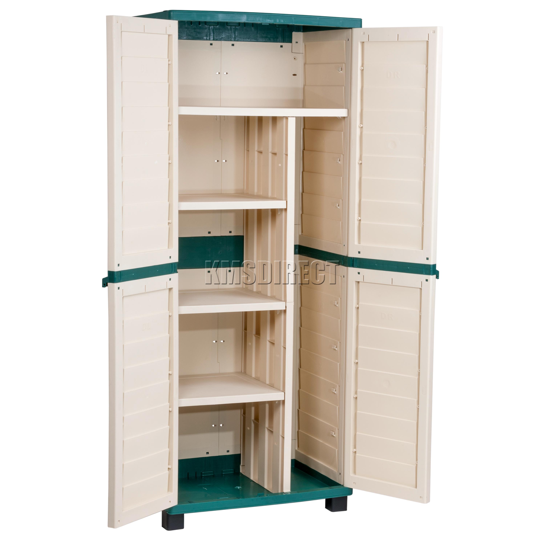 Partition For Storage In Garage : Starplast outdoor plastic garden utility cabinet with