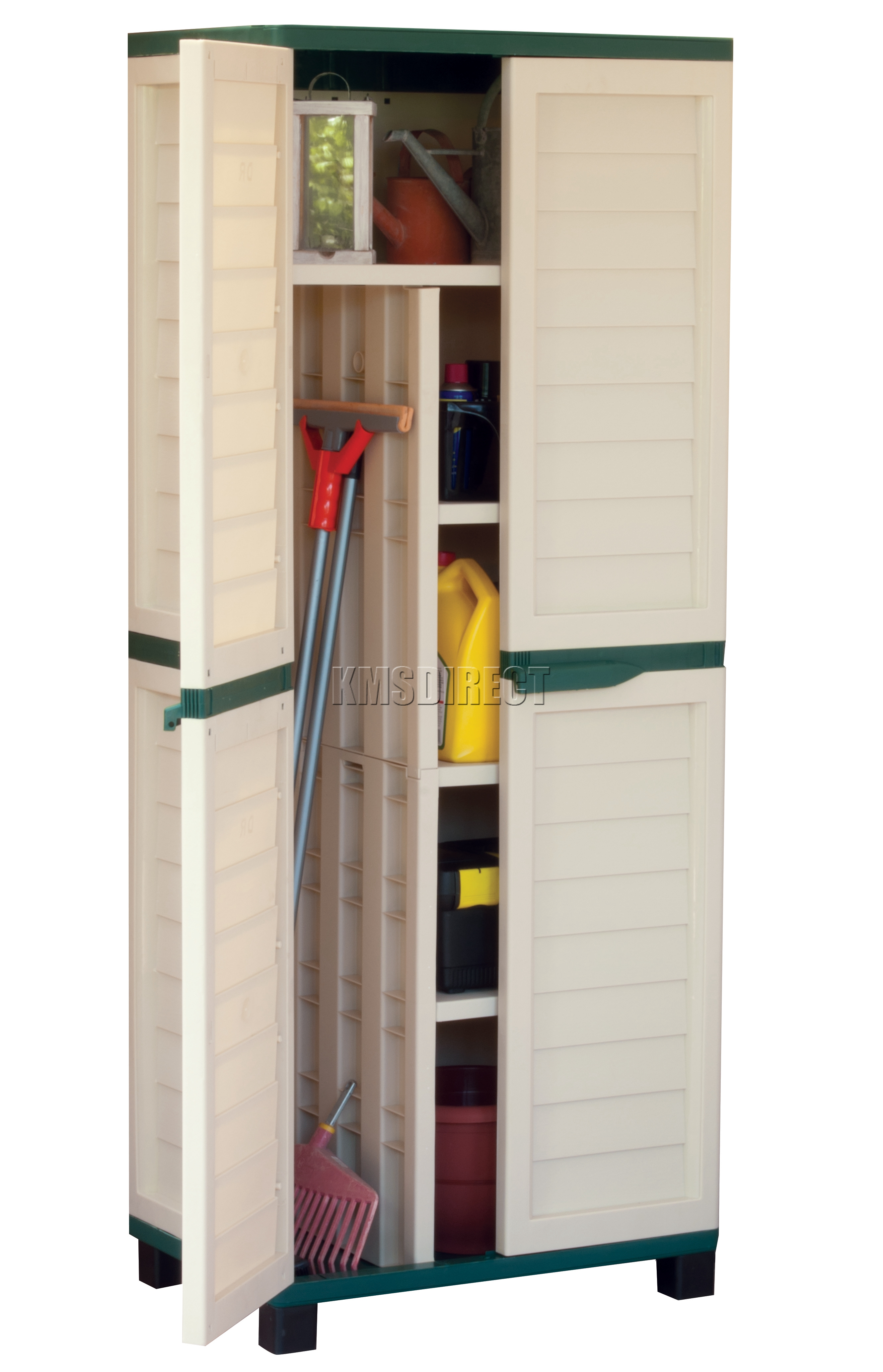 Starplast-Outdoor-Plastic-Garden-Utility-Cabinet-With-Partition-  sc 1 st  eBay & Starplast Outdoor Plastic Garden Utility Cabinet With Partition ...