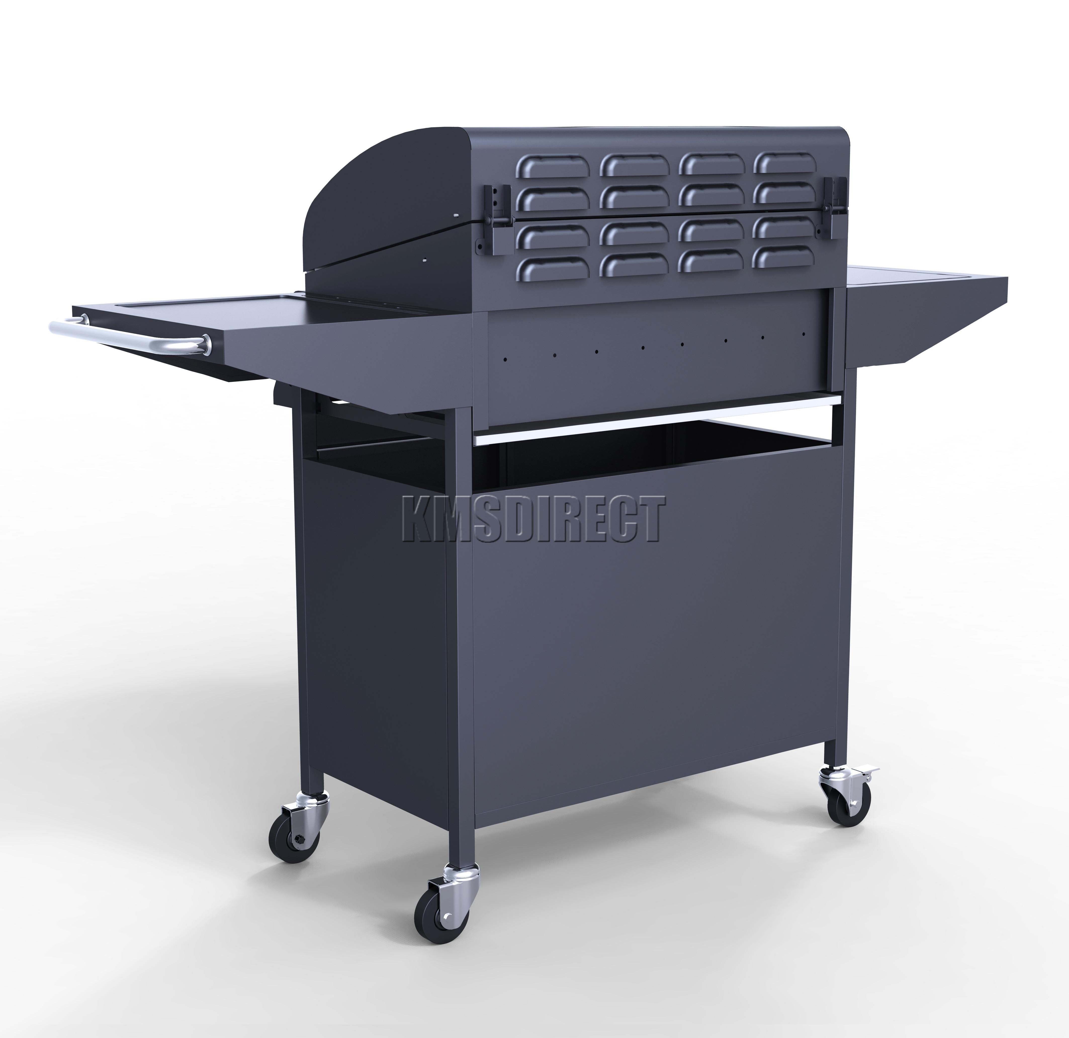 Foxhunter g a burner bbq gas grill black steel