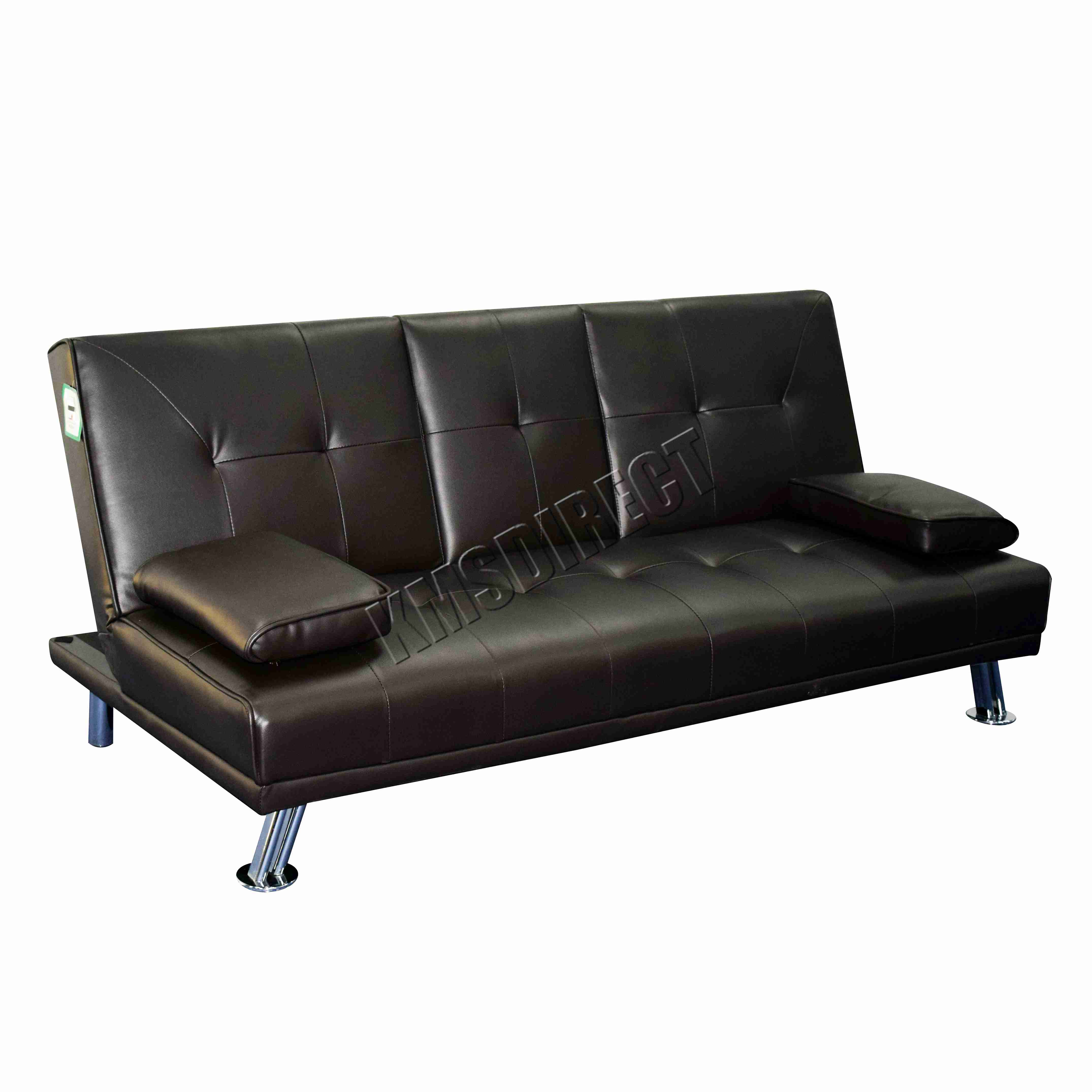 Leather Double Sofa Bed Large Leather Double Sofa Bed Pair