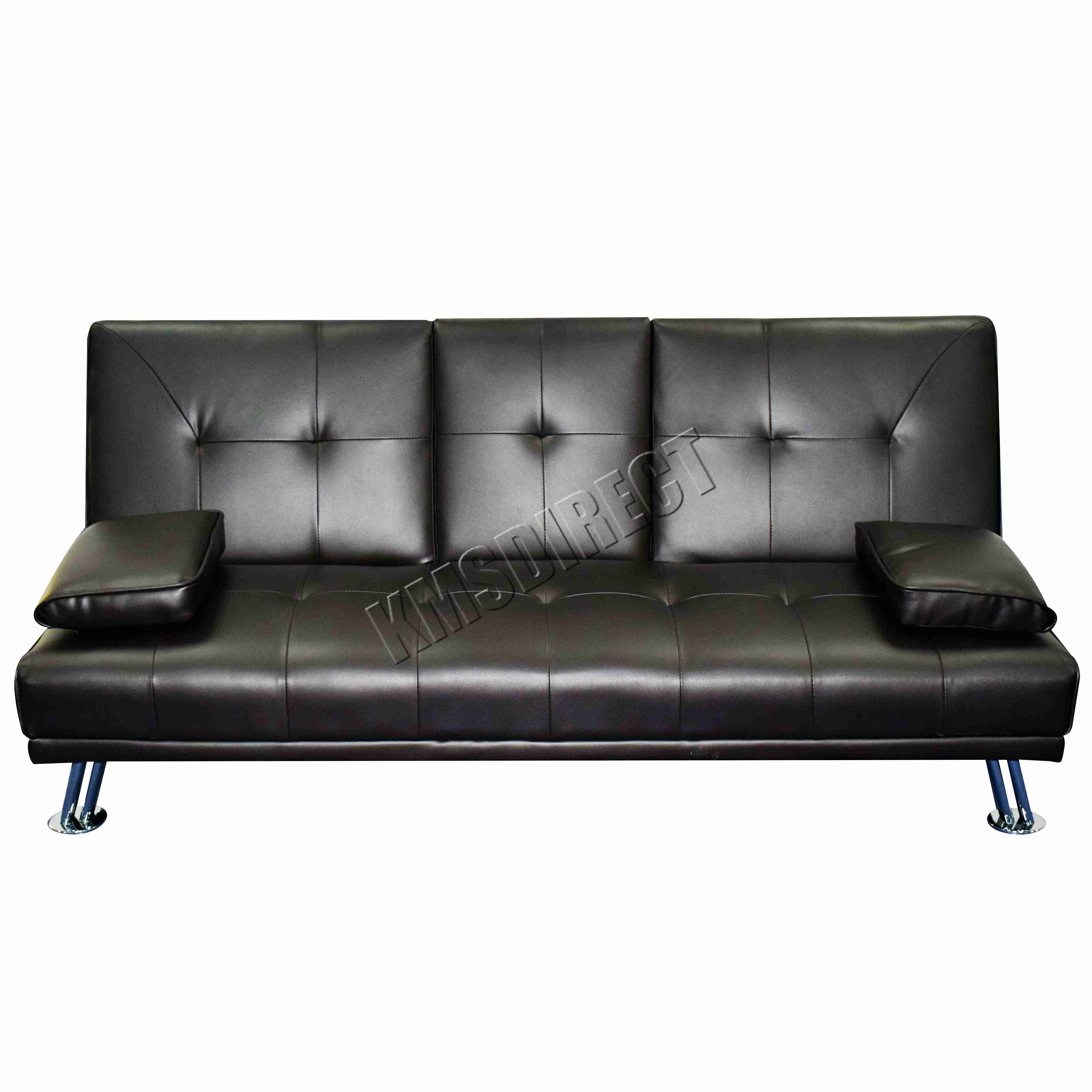 WestWood Faux Leather Manhattan Sofa Bed Recliner Seater Modern - Canape lit design
