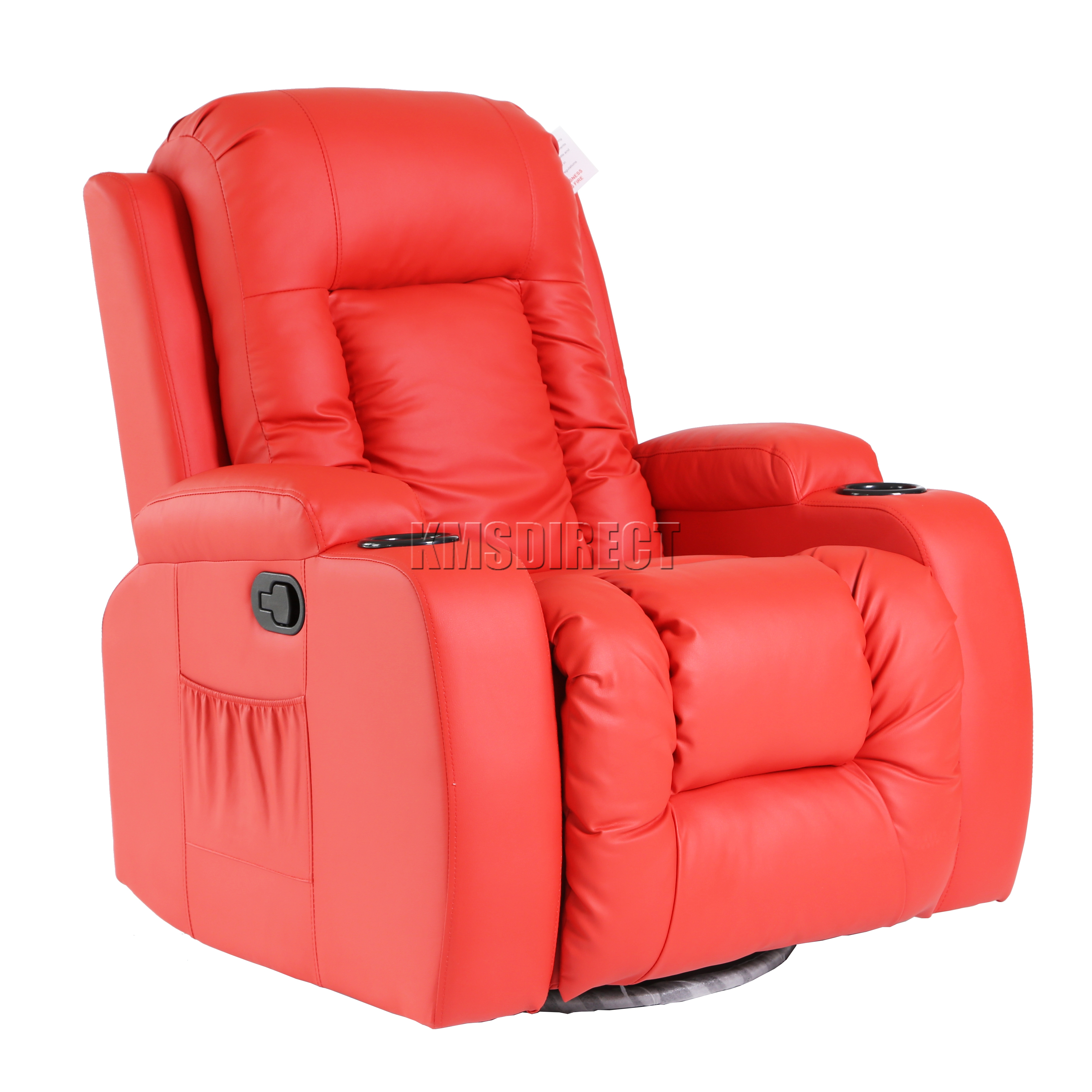 Détails sur FoxHunter Leather Massage Cinema Recliner Chair Sofa Swivel Rocking MLS 02 New