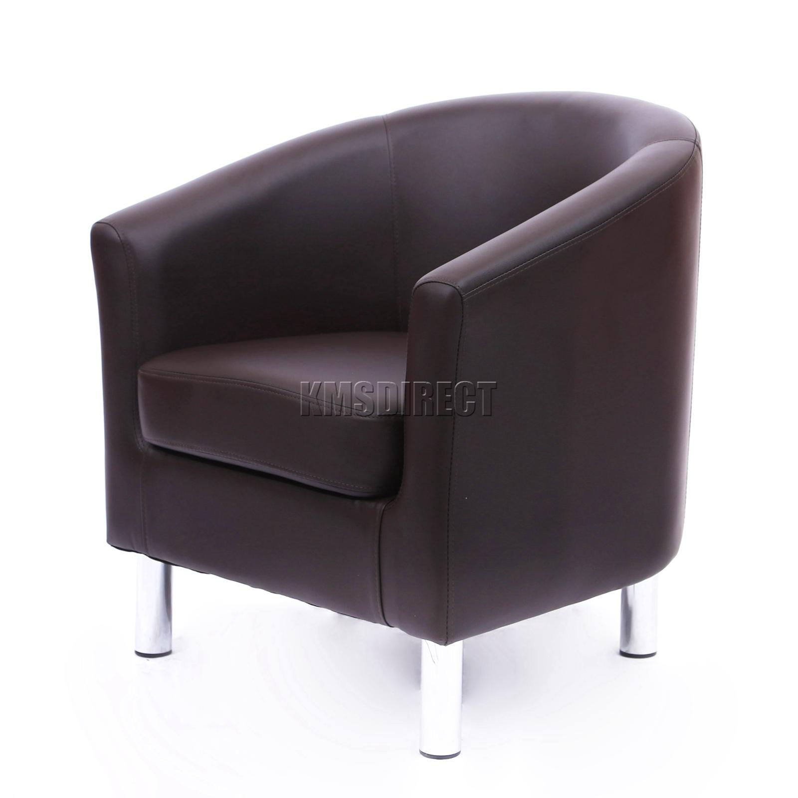 leather and chrome chair. FoxHunter-Modern-Tub-Chair-Armchair-PU-Faux-Leather- Leather And Chrome Chair I