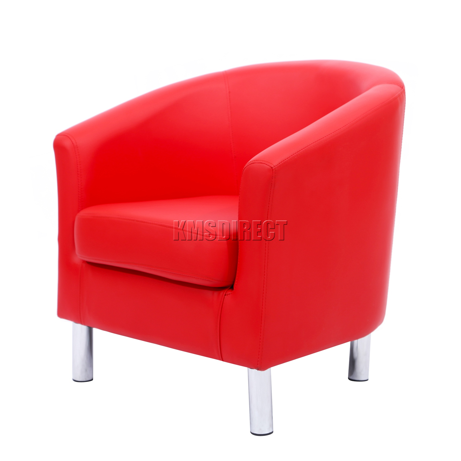 Foxhunter modern tub chair armchair pu faux leather with for Salle a manger avec fauteuil