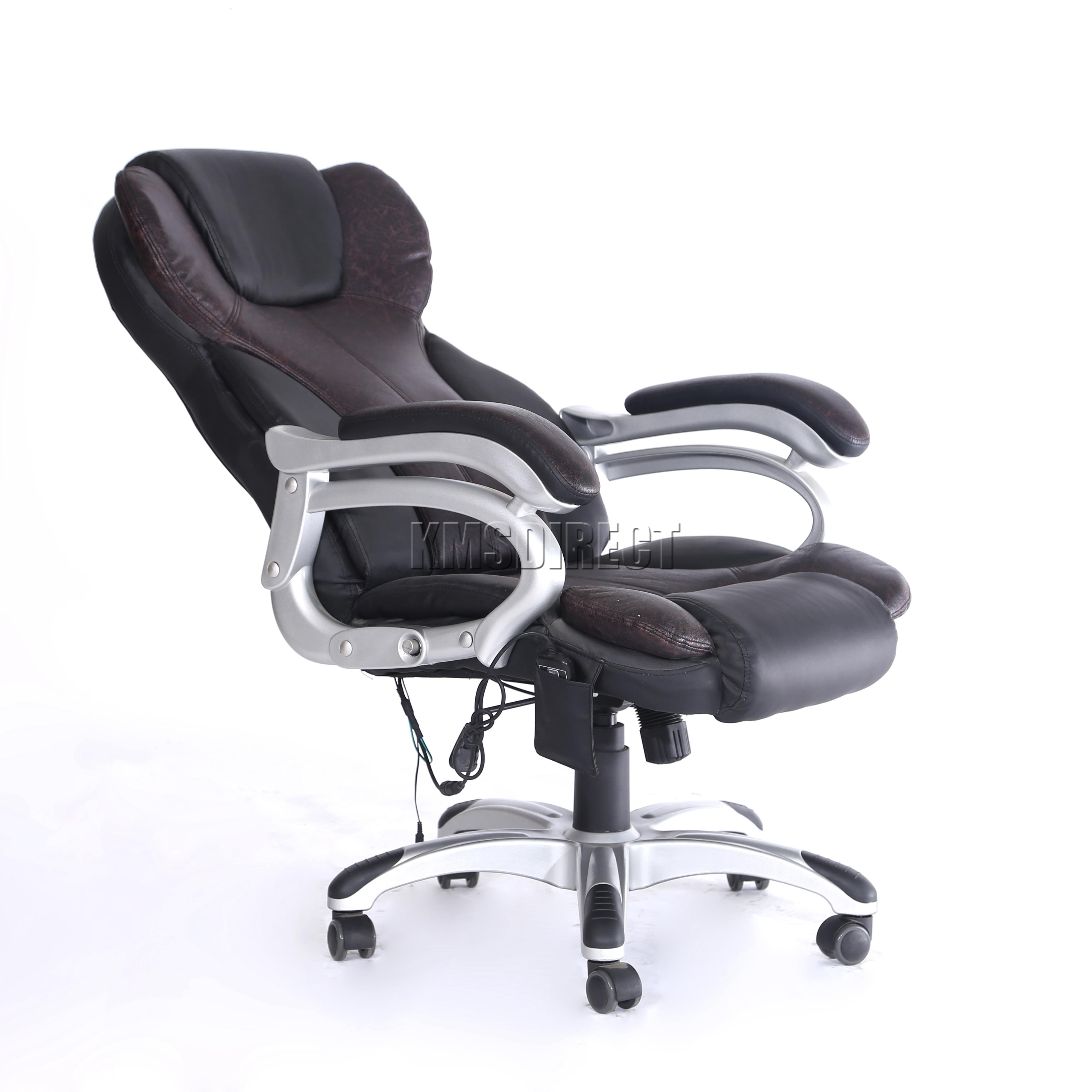 Sentinel Foxhunter Luxury 6 Point Massage Office Computer Chair Reclining Mc8074 Brown