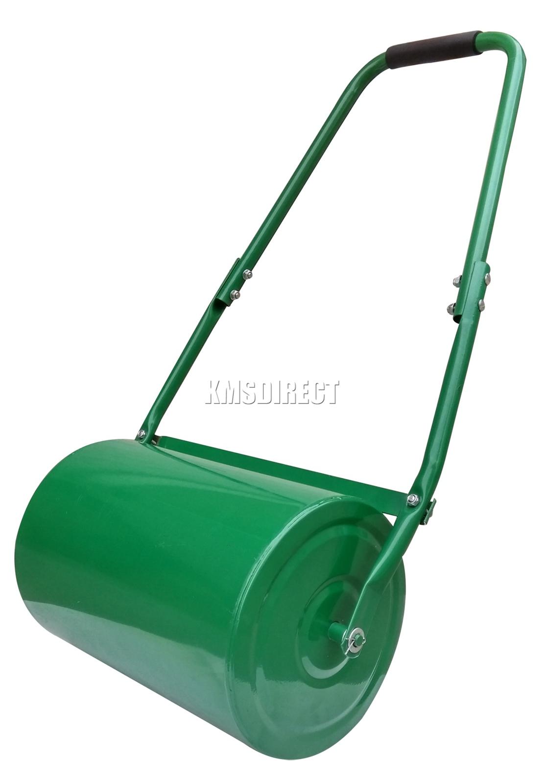 New Heavy Duty Steel Garden Grass Lawn Roller 30L or 46L Green Water Sand Filled
