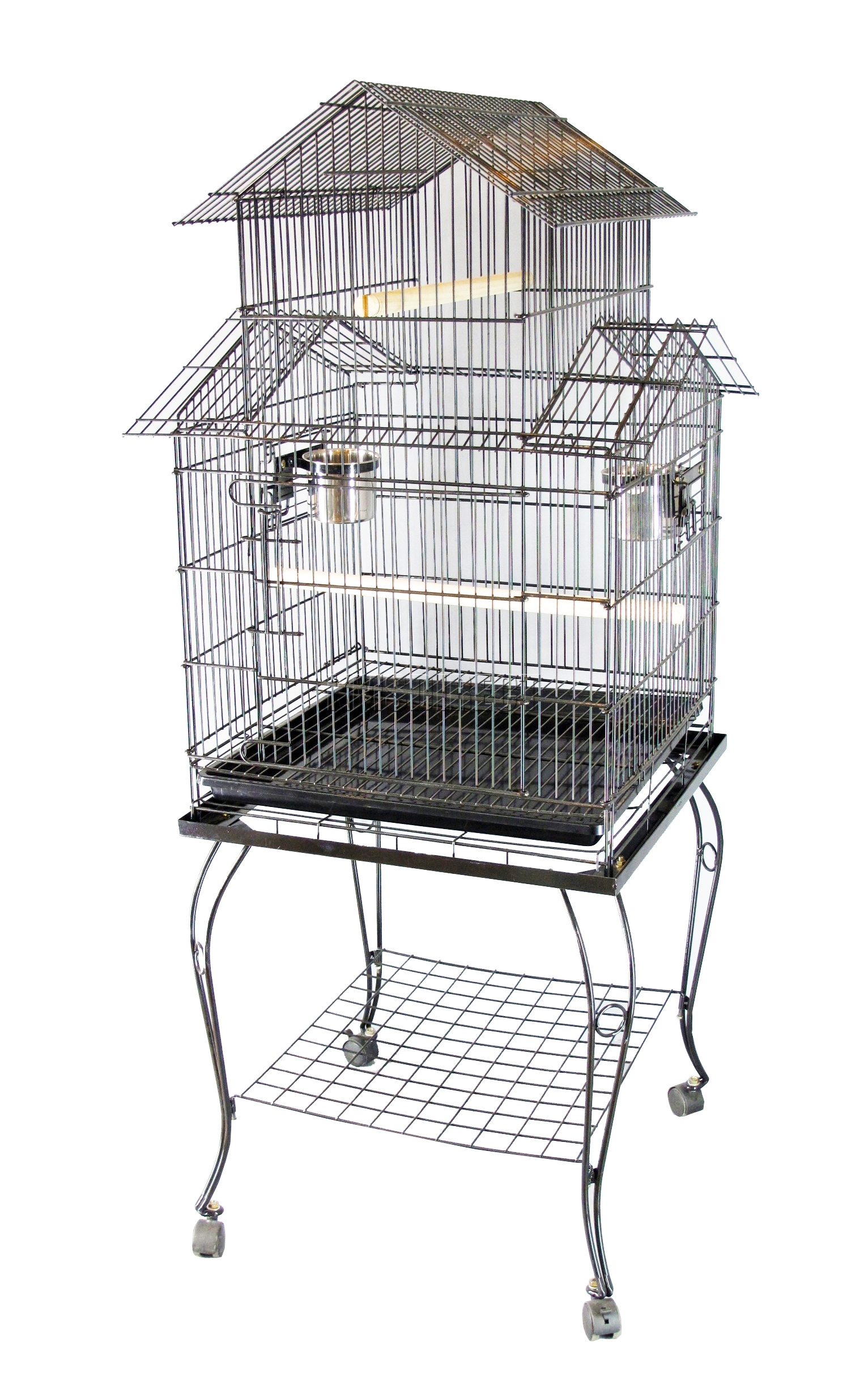 FoxHunter-Large-Metal-Bird-Cage-With-Stand-Aviary-Parrot-Budgie-Canary-Cockatiel