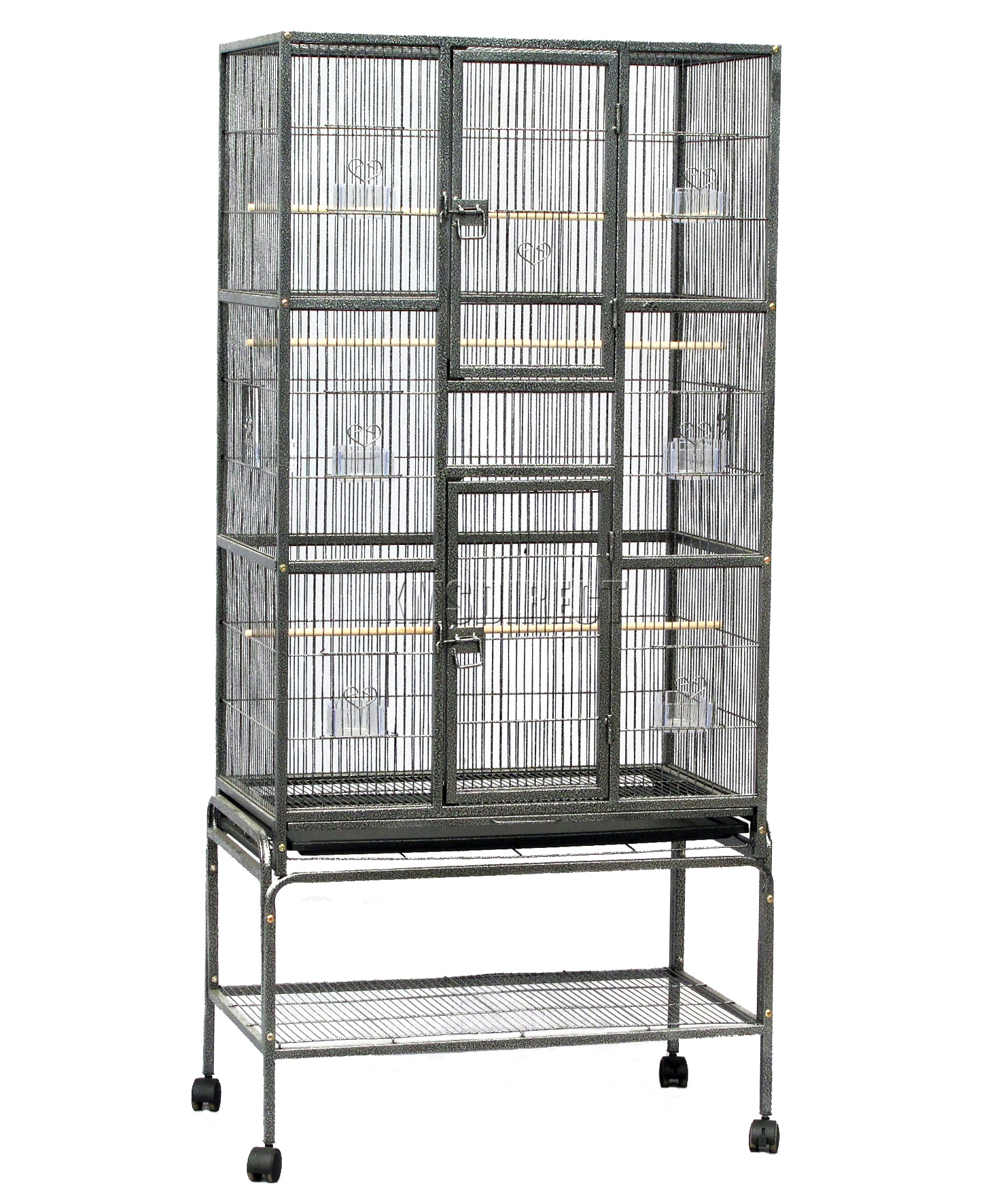 foxhunter large metal bird cage with stand aviary parrot budgie canary cockatiel ebay. Black Bedroom Furniture Sets. Home Design Ideas