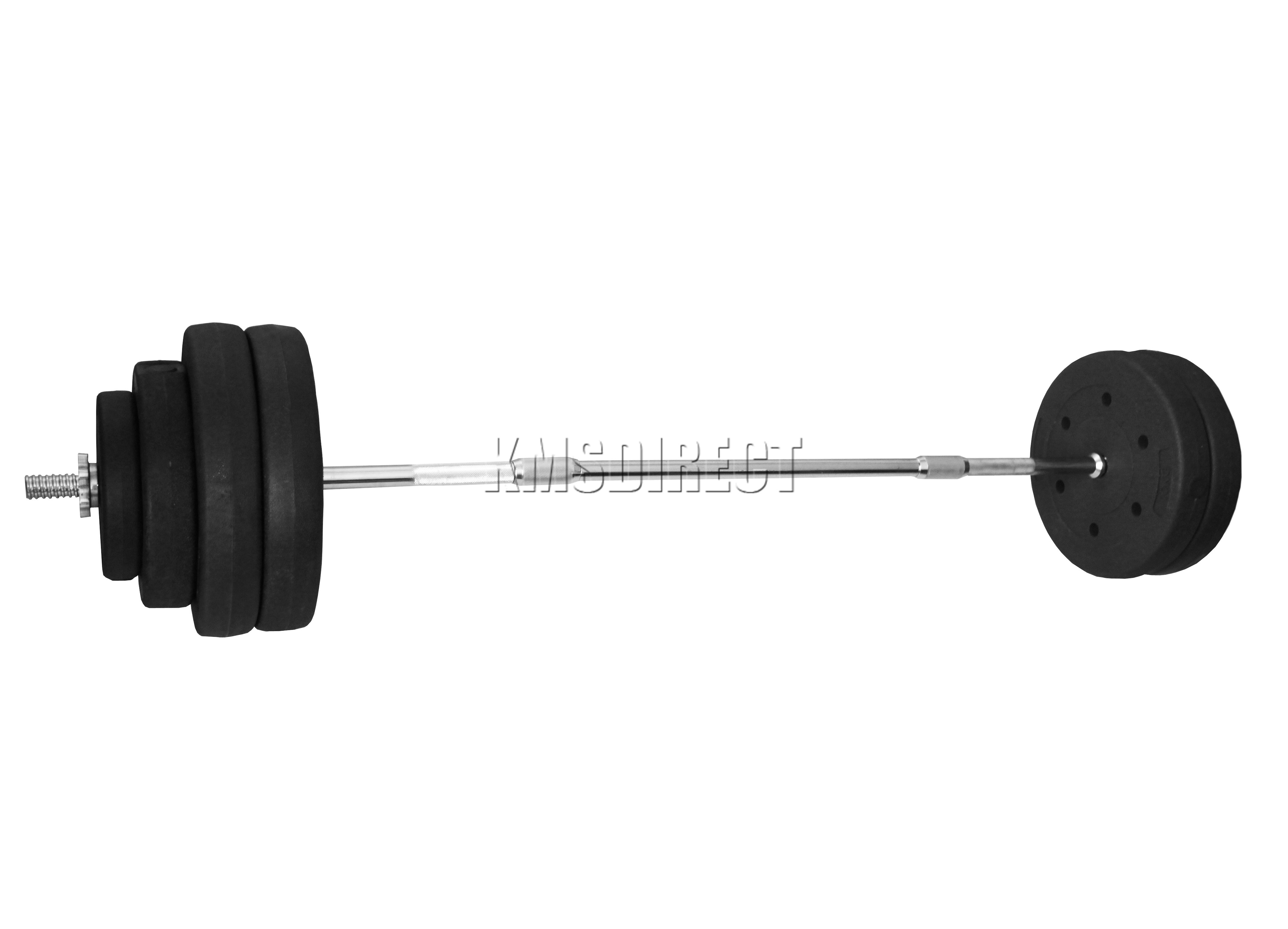 Foxhunter Curl Bar Barbell Set Weight Lifting Gym