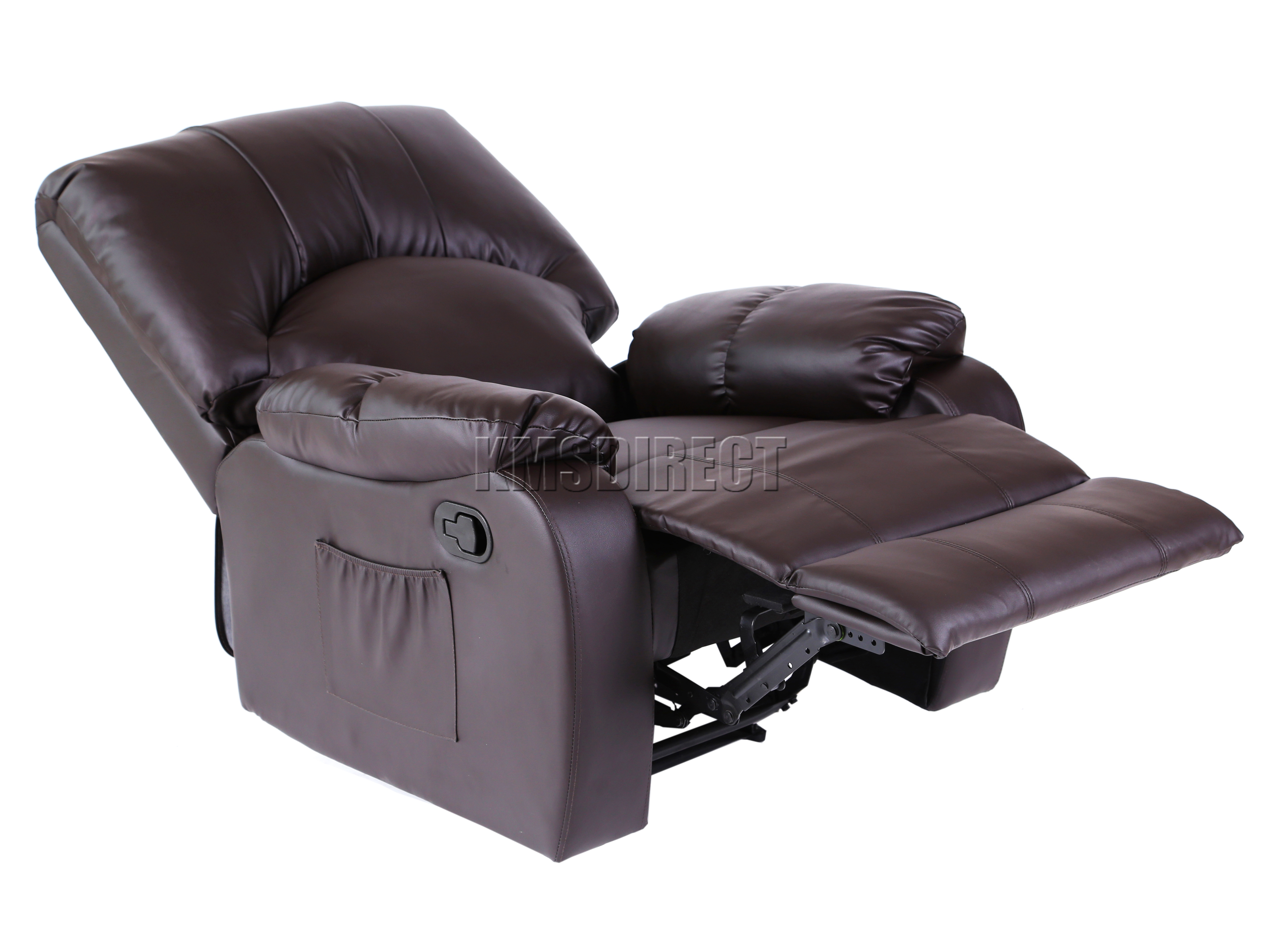 Details about FoxHunter Leather Massage Cinema Recliner Chair Sofa Armchair Heating MLS 03 New