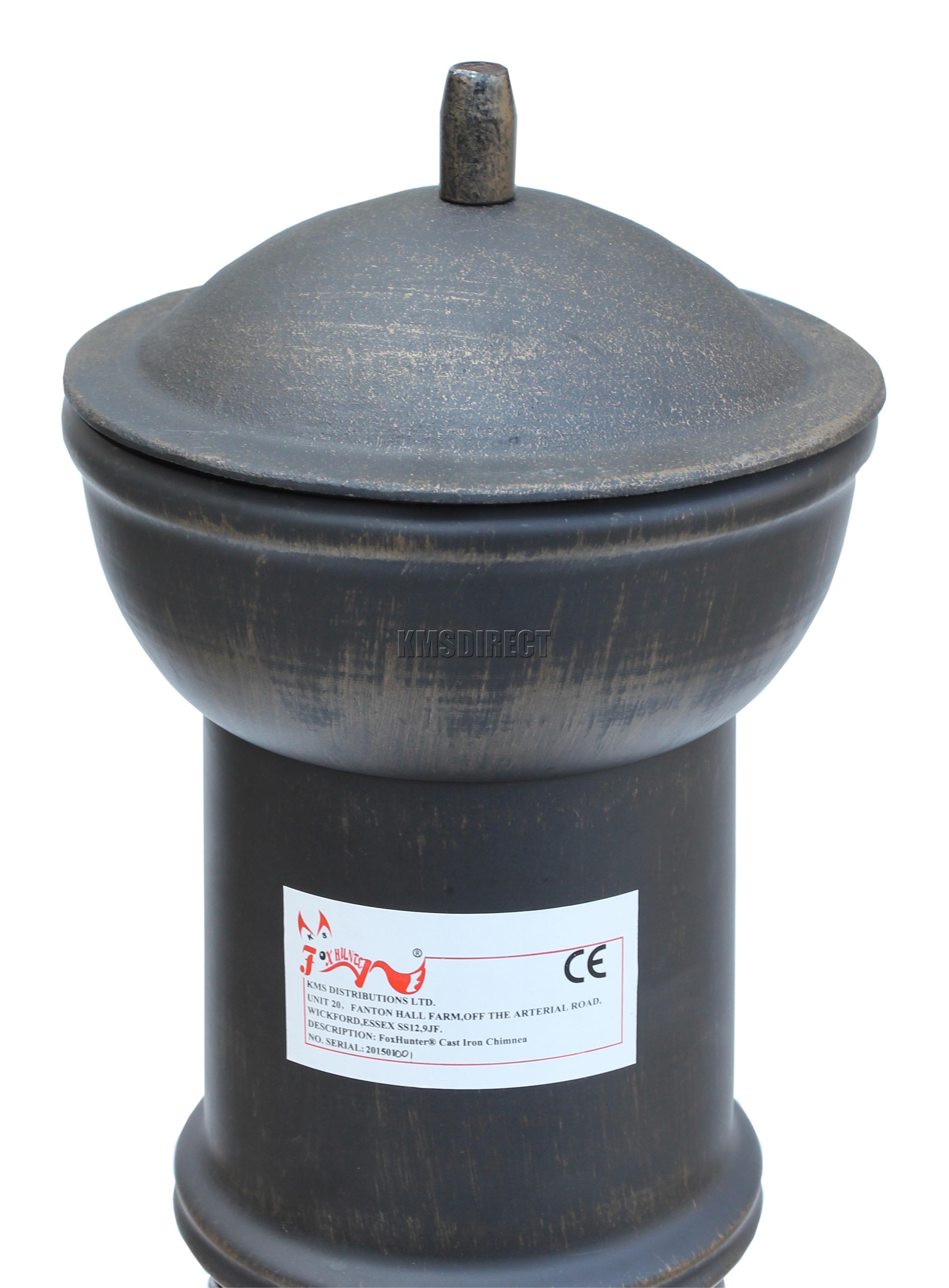 FoxHunter Garden Cast Iron Steel Chimenea Chiminea Chimnea