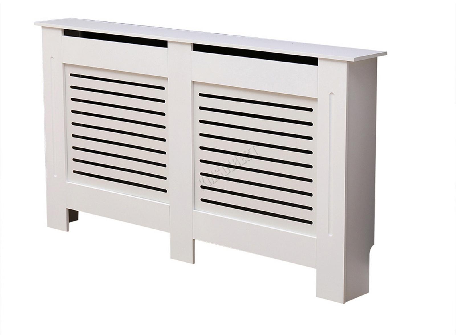Modern WestWood Radiator Cover Grey Wooden Radiator Wall Shelves Cabinet