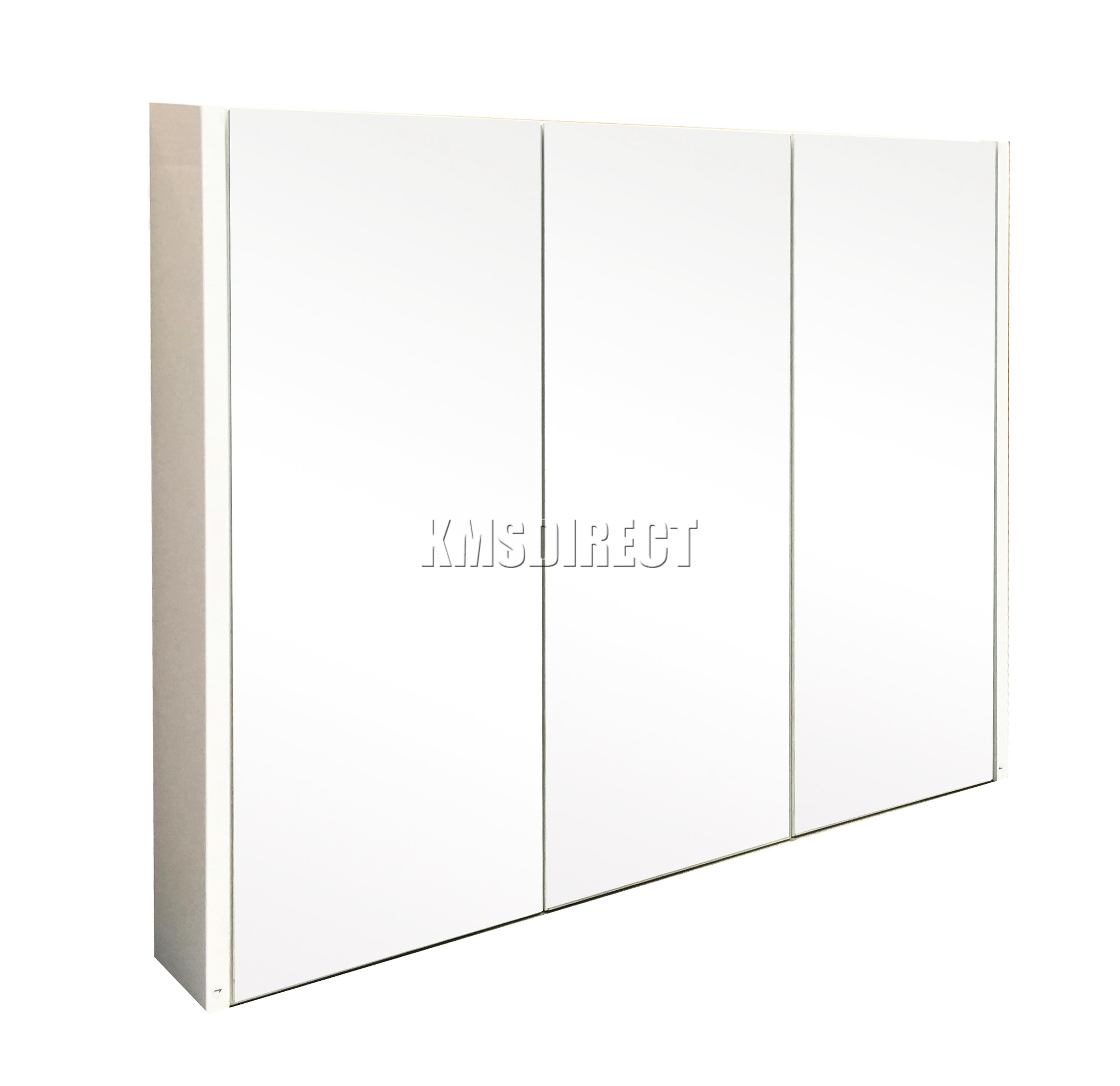 Sentinel FoxHunter Triple 3 Door Wall Mount Mirror Bathroom Cabinet Storage  Cupboard BC02