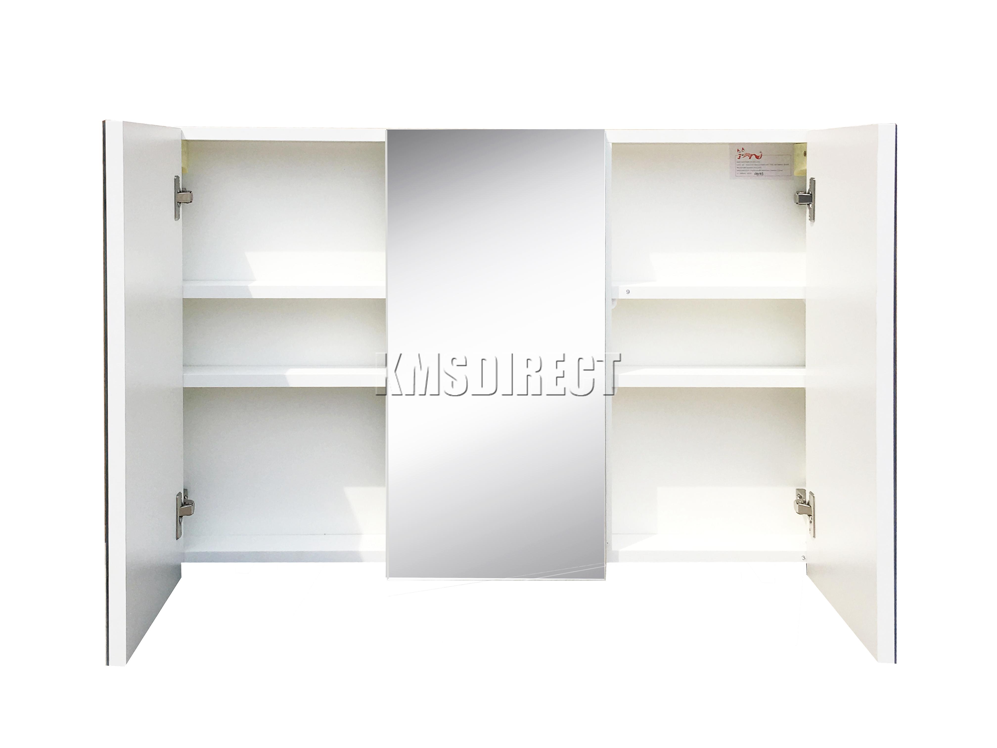 Westwood triple 3 puertas soporte de pared espejo gabinete for Armario almacenaje bano