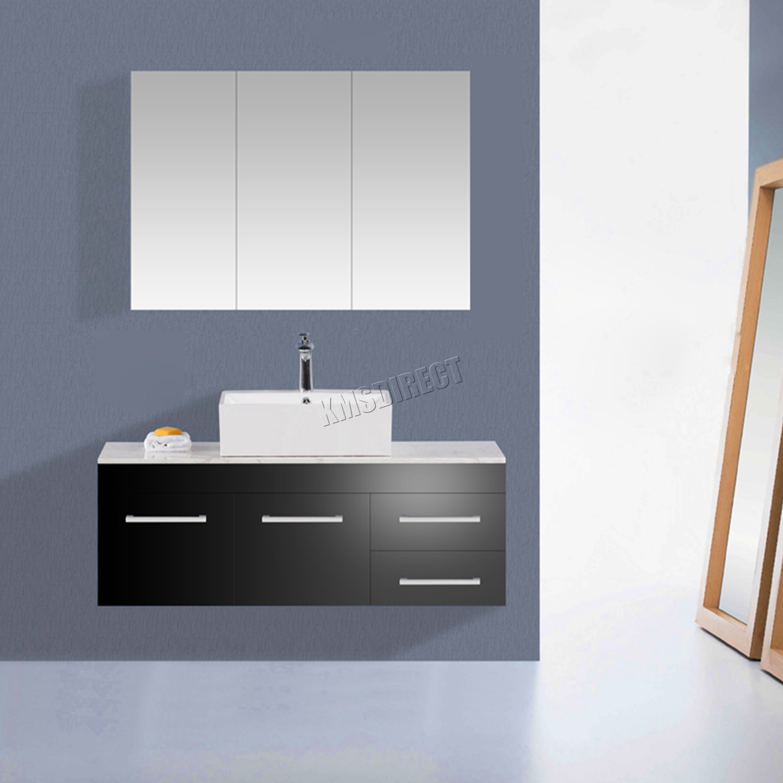 Westwood soporte de pared espejo gabinete ba o unidad for Espejo con almacenaje