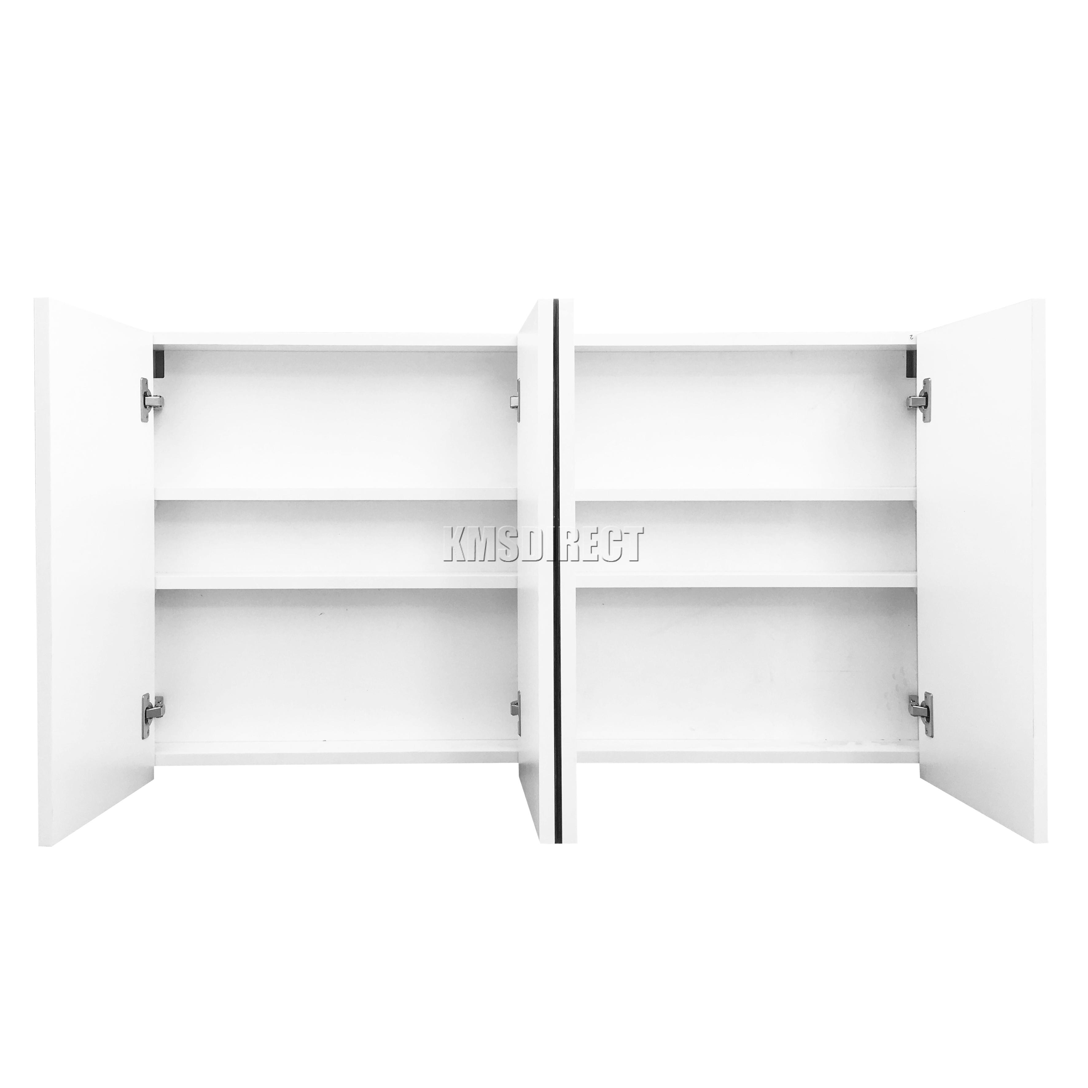 FoxHunter Wall Mount Mirror Bathroom Cabinet Unit Storage