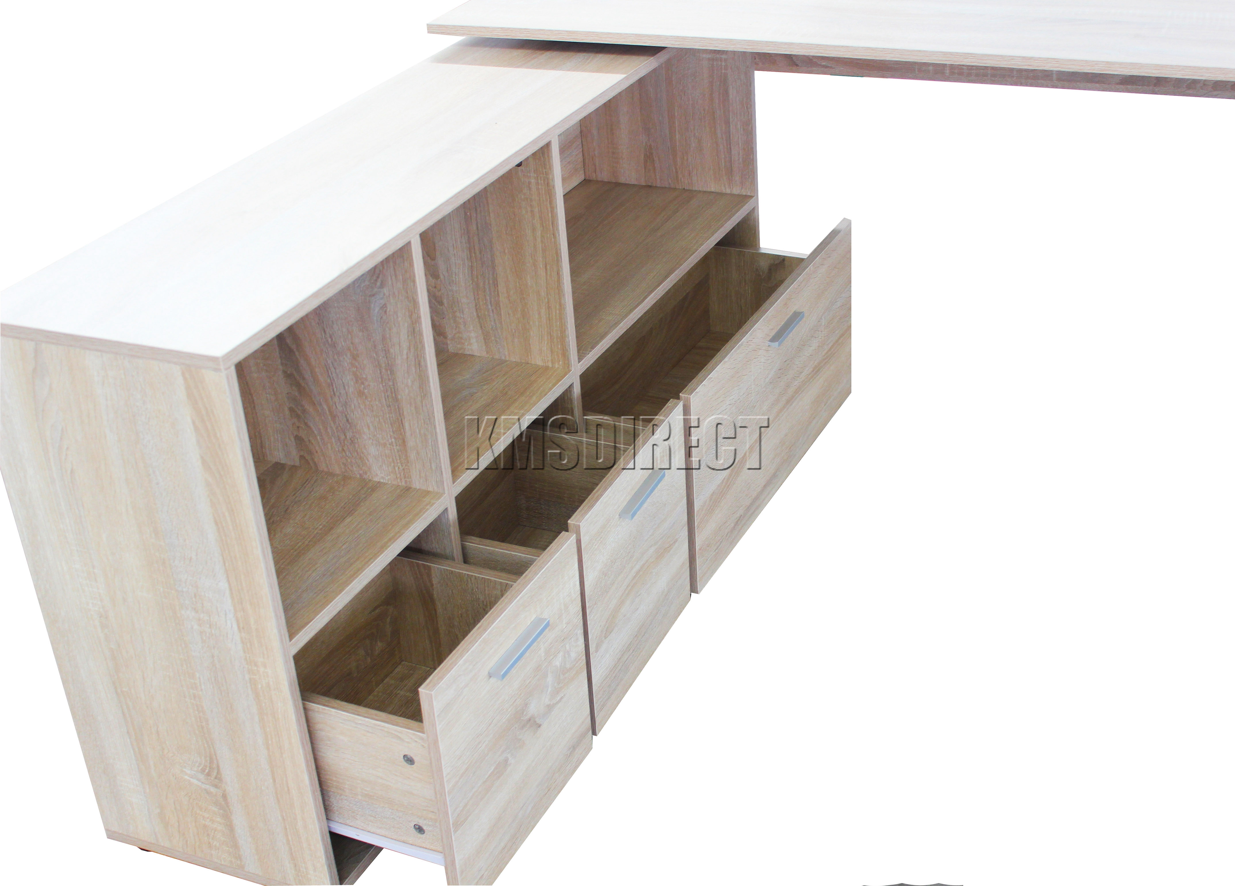 WestWood PC Computer Desk Corner Wooden Desktop Table