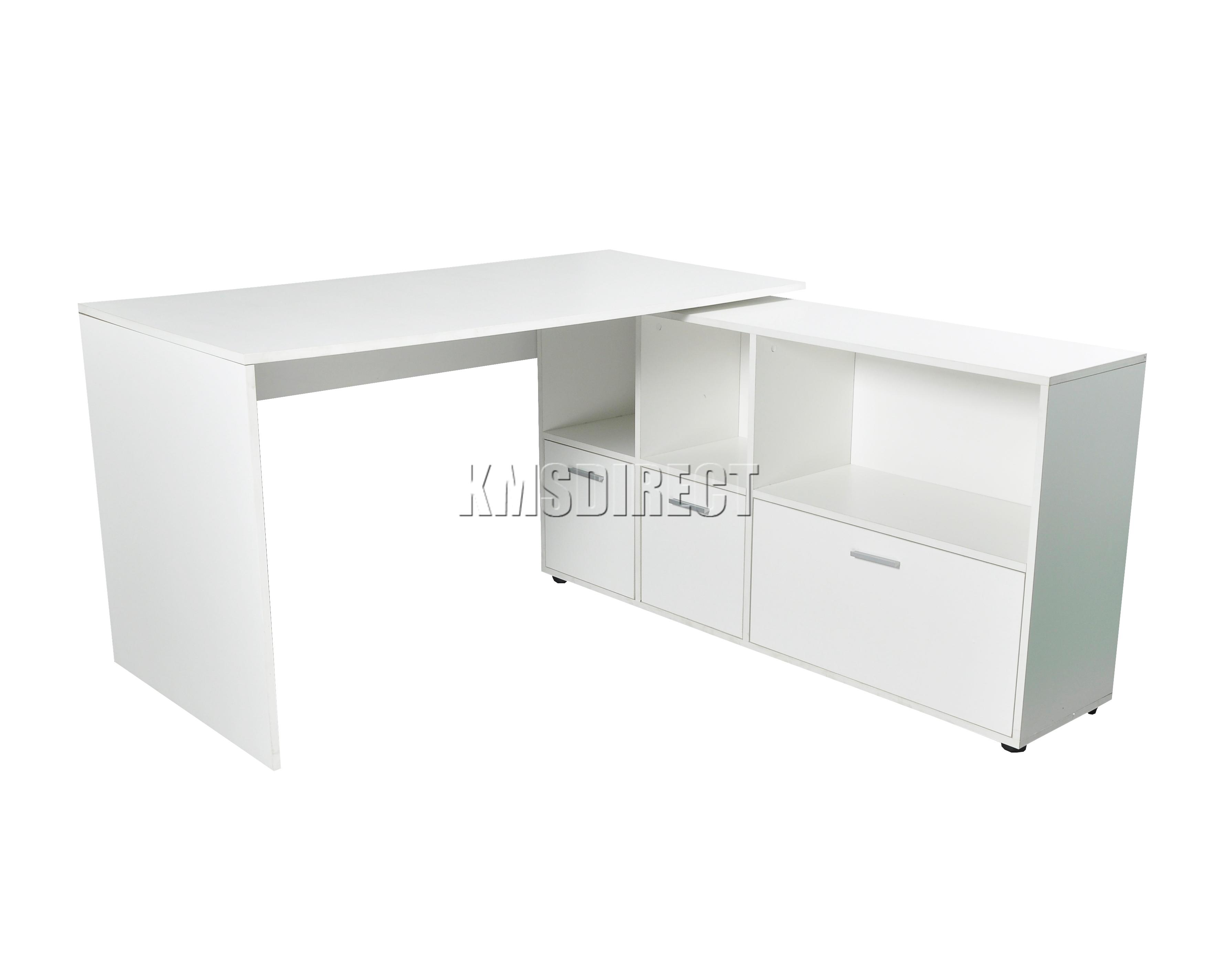Foxhunter pc computador escritorio esquina madera - Mesa escritorio esquina ...