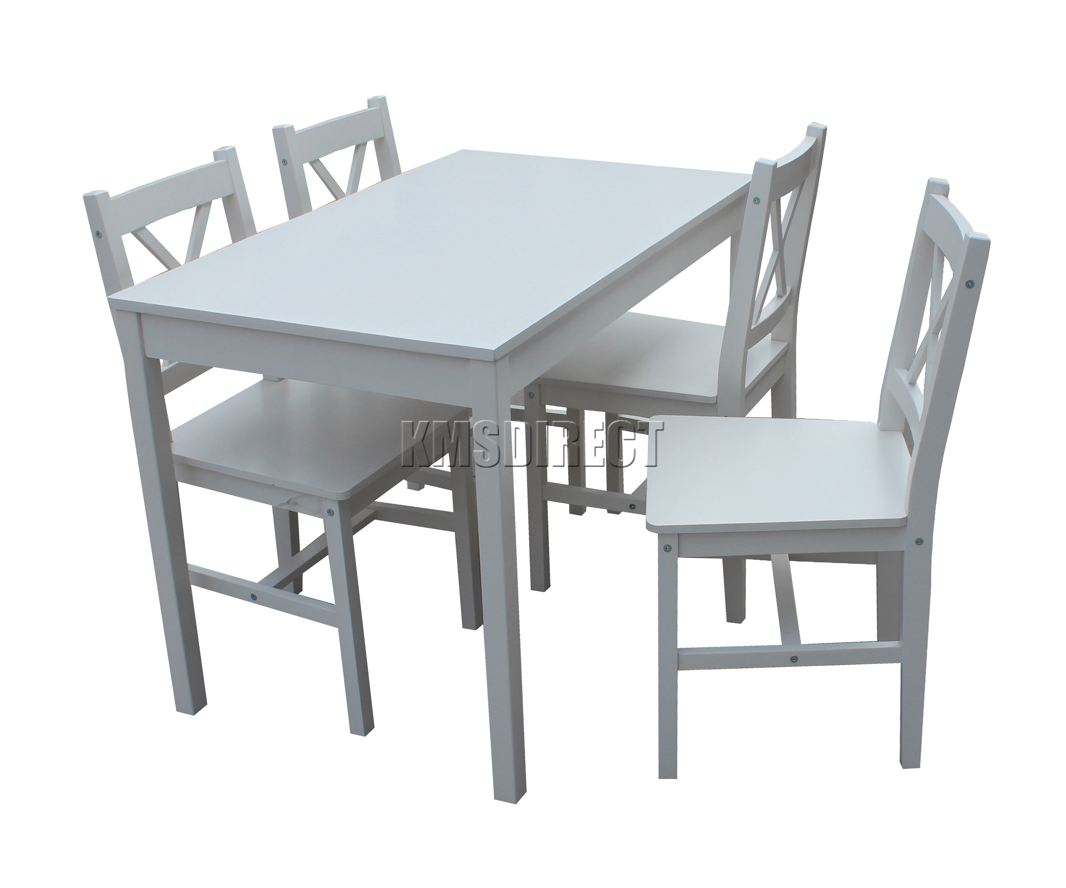 SPARE REPAIR Solid Wooden Dining Table With 4 Chairs Set