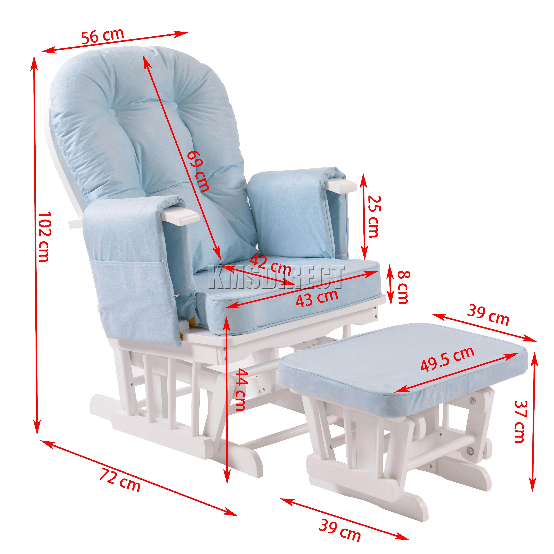 Foxhunter lactancia mecedora maternidad silla con banco - Silla mecedora de lactancia ...