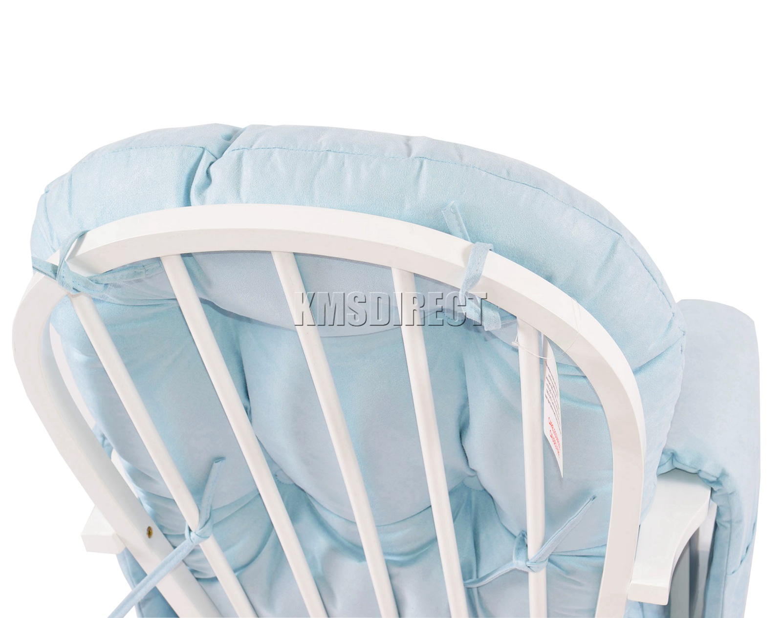 FoxHunter-Nursing-Glider-Maternity-Rocking-Chair-With-Stool-White-Wood-Frame-New miniatuur 19