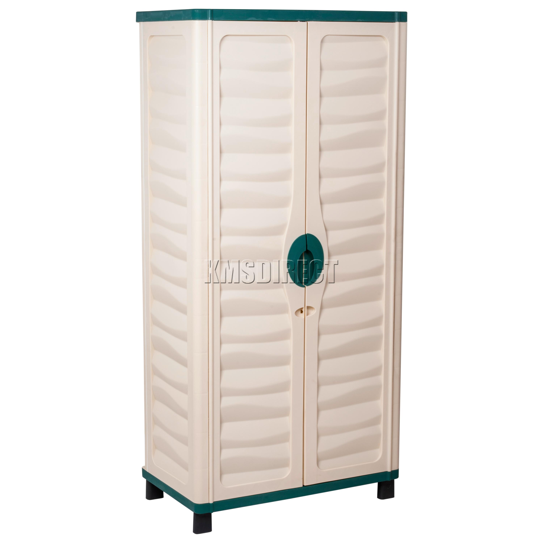 Starplast Outdoor Plastic Garden Utility Cabinet With 2 Shelves Storage 44 811 Ebay