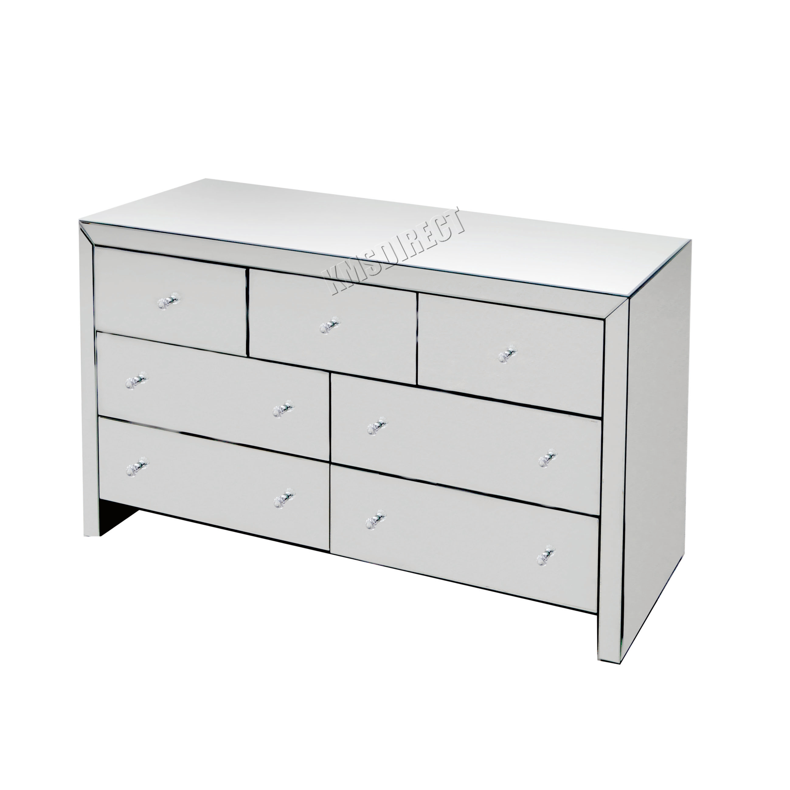Foxhunter Mirrored Furniture Glass With Drawer Chest Cabinet Table  # Muebles Eh Elegant House
