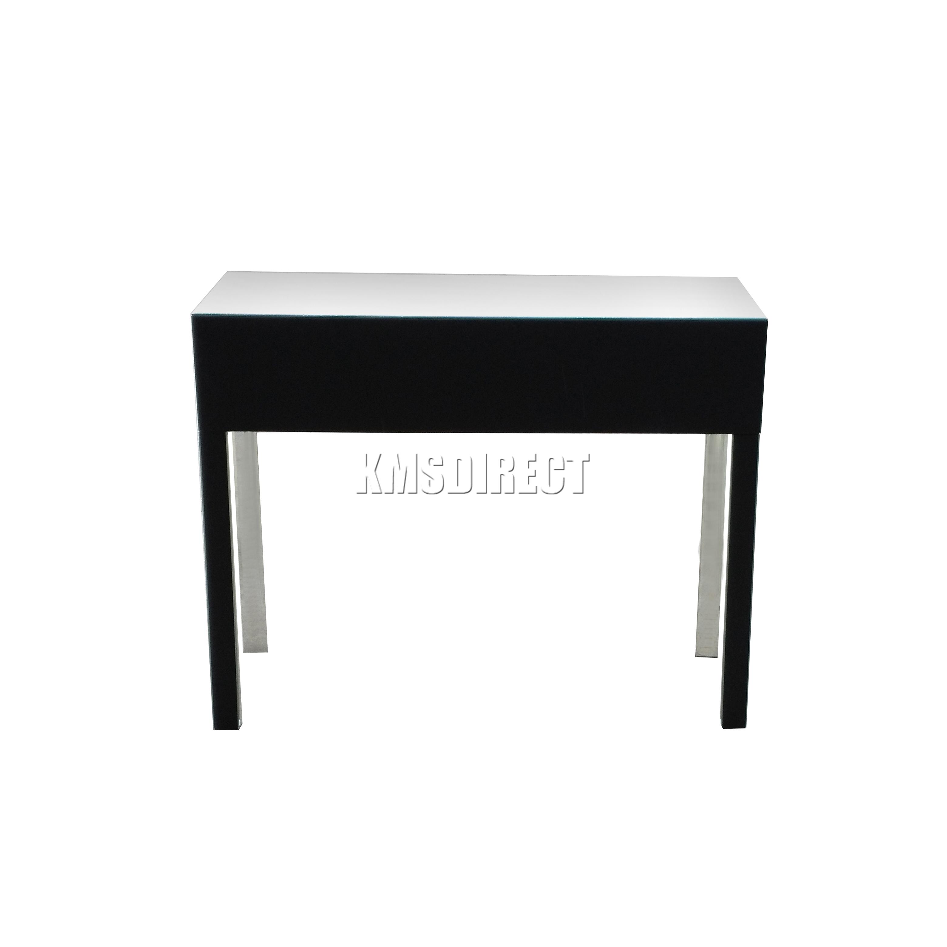 Foxhunter reflectante muebles cristal 2 cajones tocador for Muebles ebay