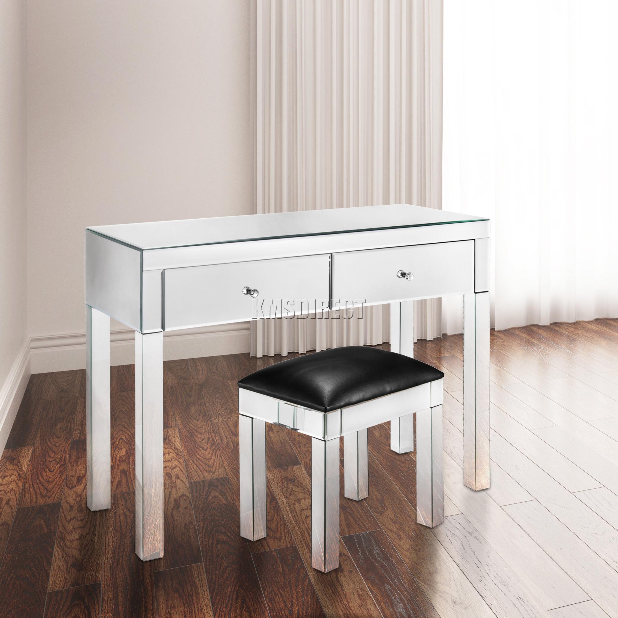 FoxHunter Reflectante Muebles cristal tocador con cajón CONSOLA ...
