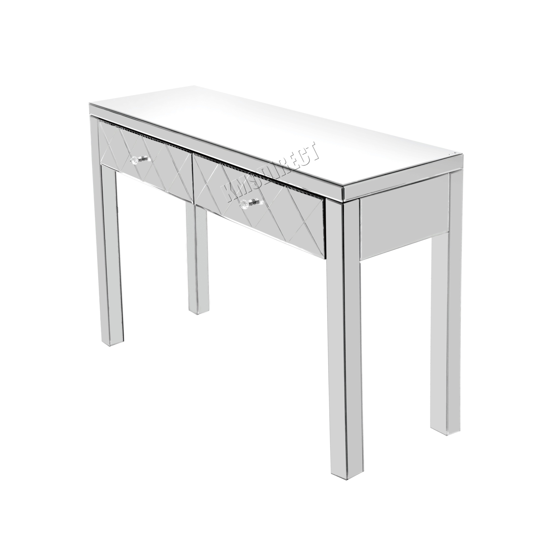 westwood copi meubles verre coiffeuse avec tiroir console chambre ebay. Black Bedroom Furniture Sets. Home Design Ideas