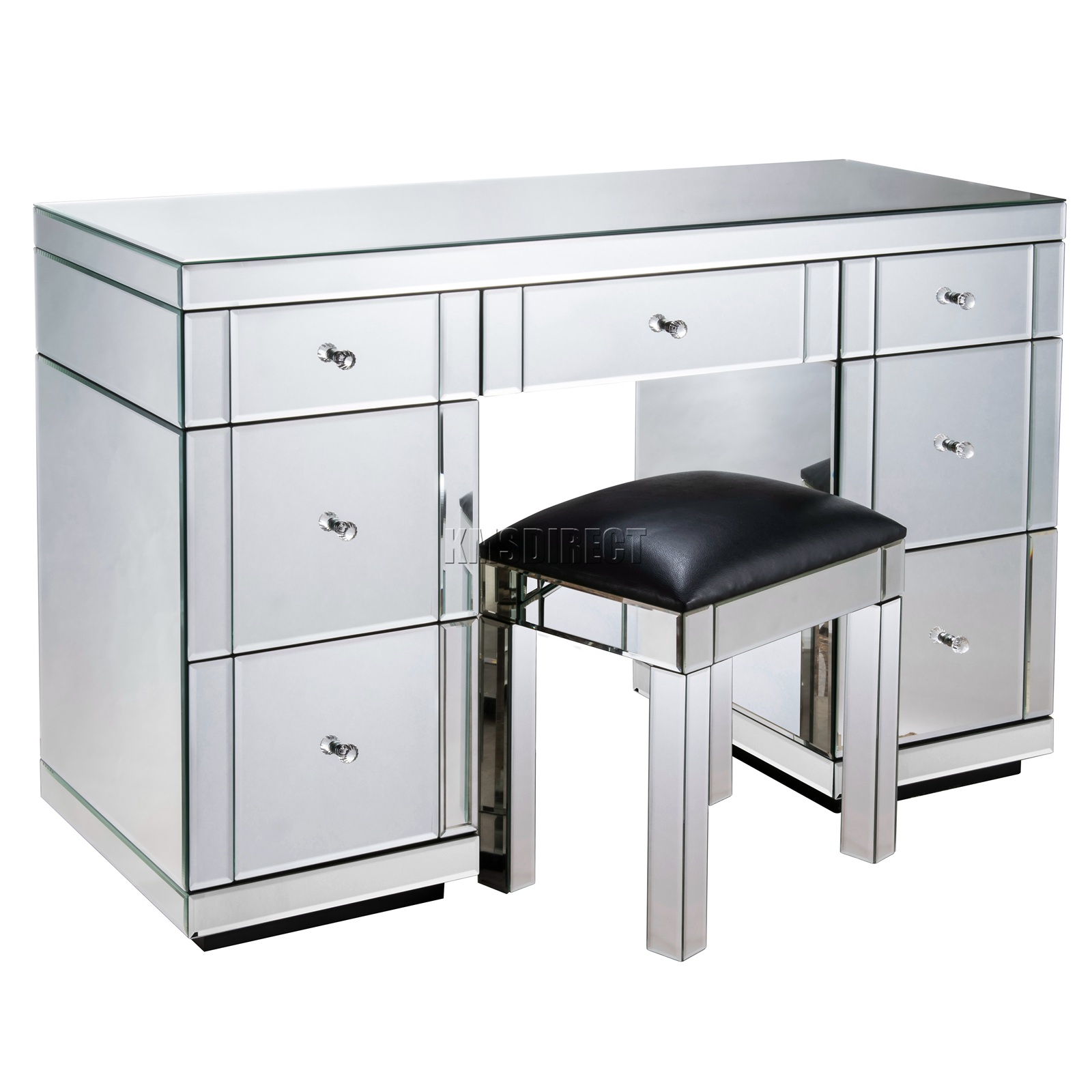 Beau Details About WestWood Mirrored Furniture Glass Dressing Table With Drawer  Console Bedroom