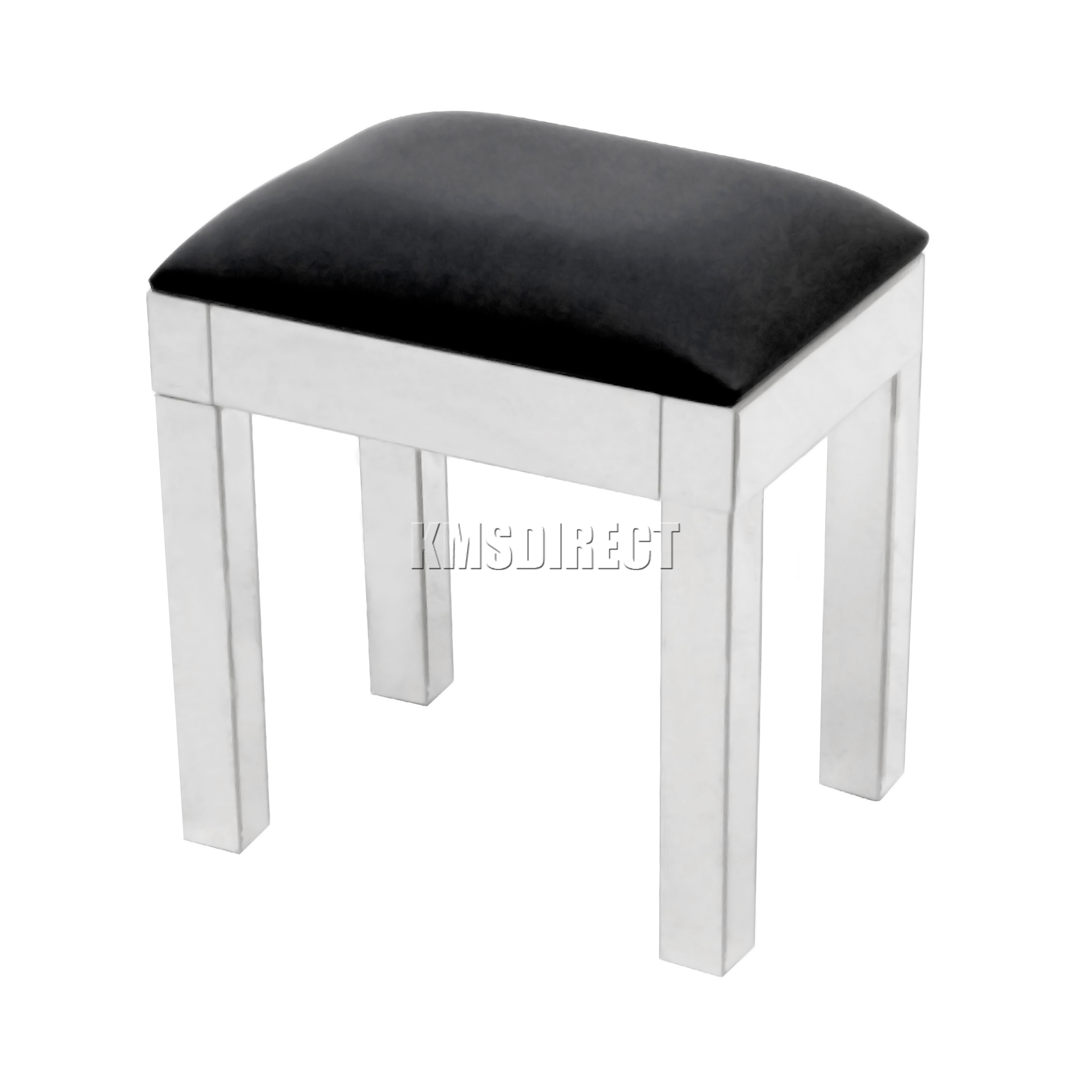 Foxhunter Mirrored Furniture Glass Dressing Table Stool