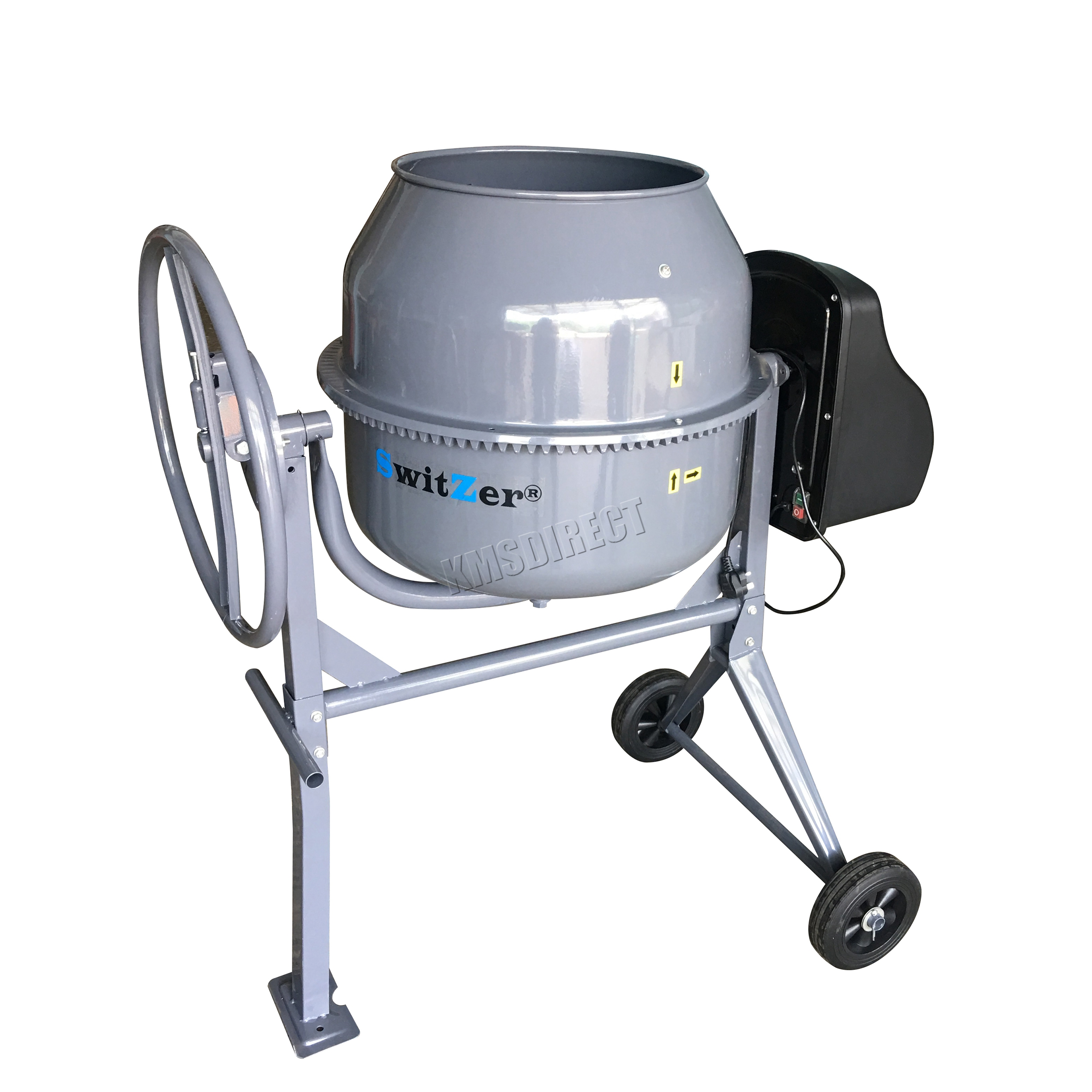 Portable Electric Mixer ~ Switzer w l drum portable electric concrete cement