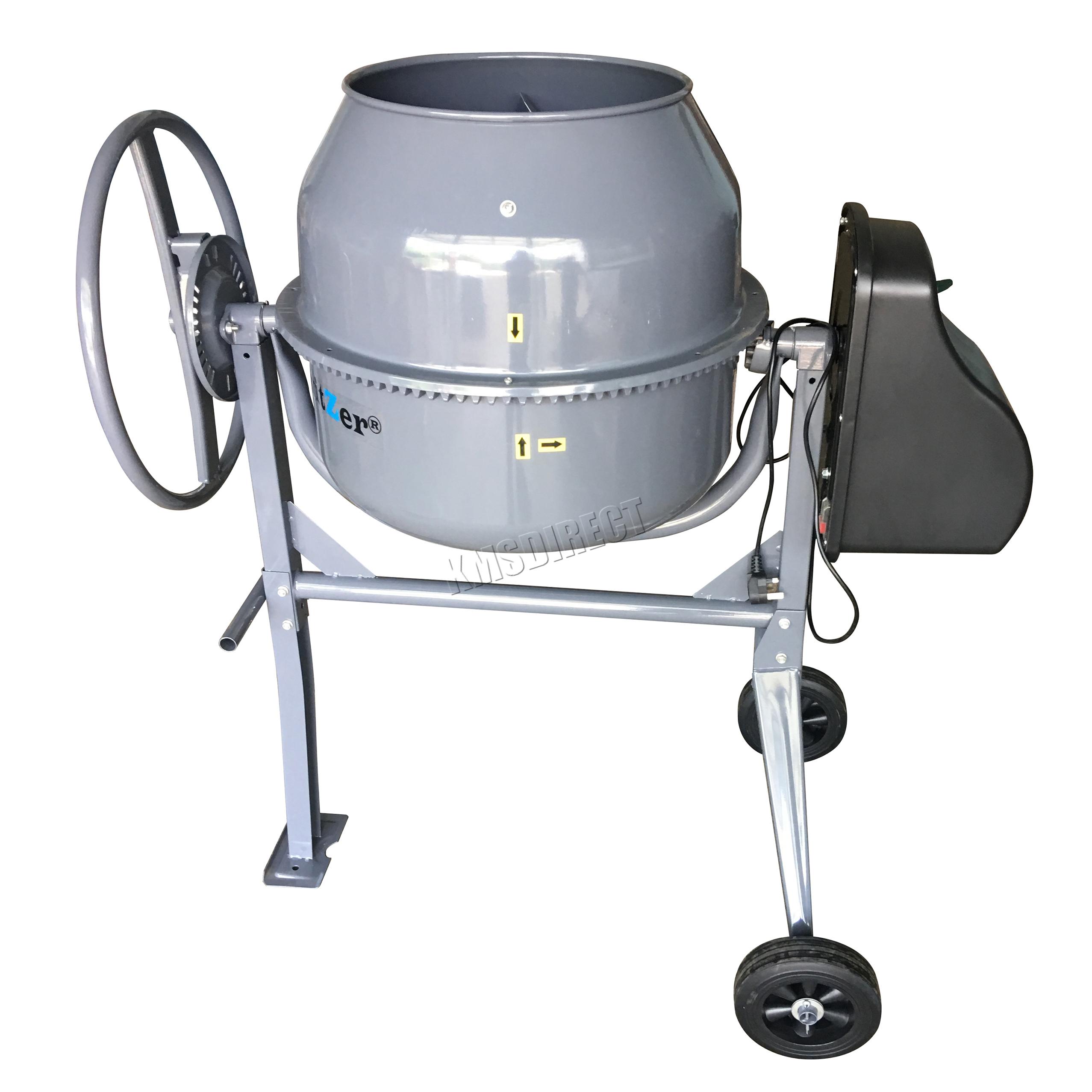 Switzer 650w 140l Drum Portable Electric Concrete Cement