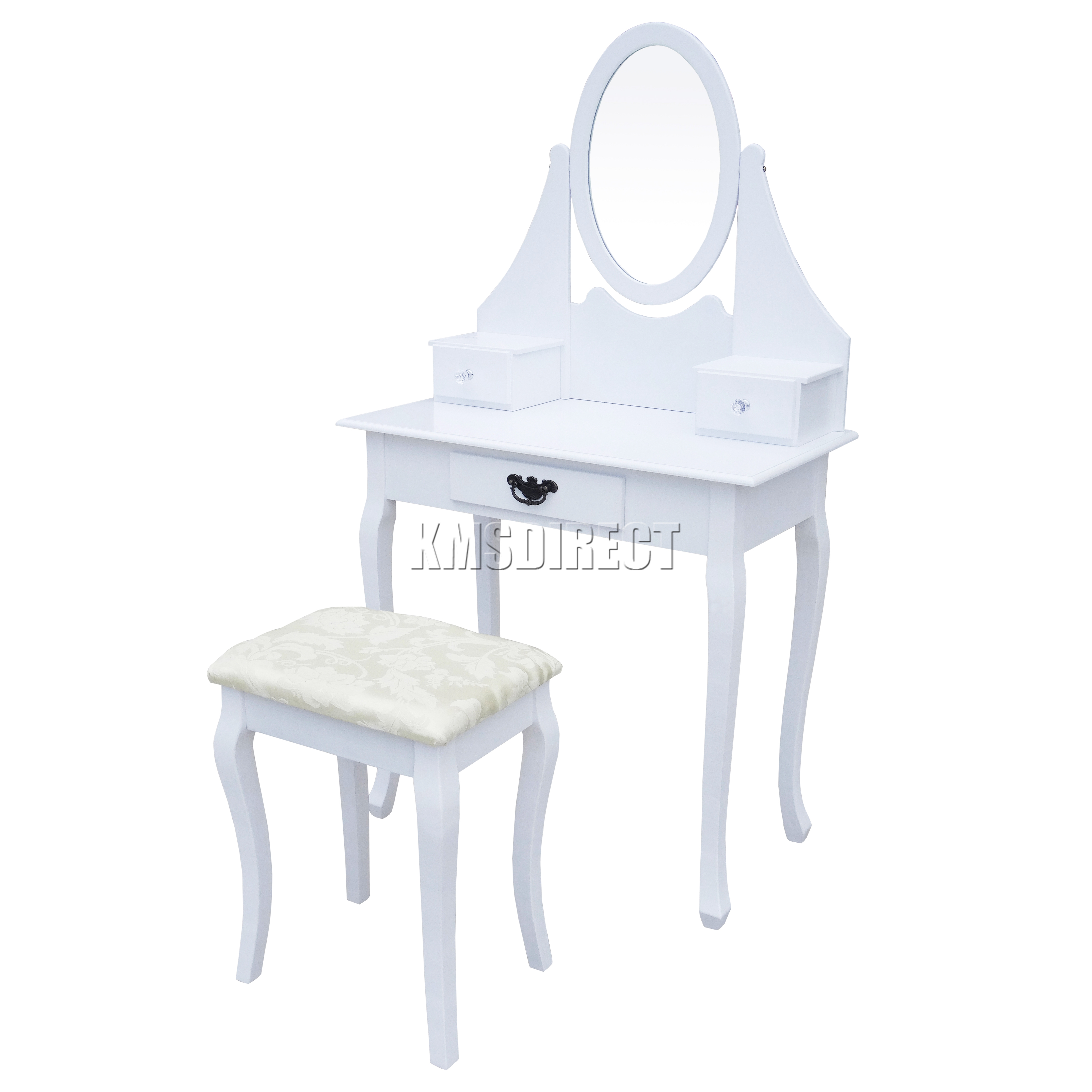 FoxHunter Makeup Dressing Table Set With Stool Drawer Mirror Jewelry ...