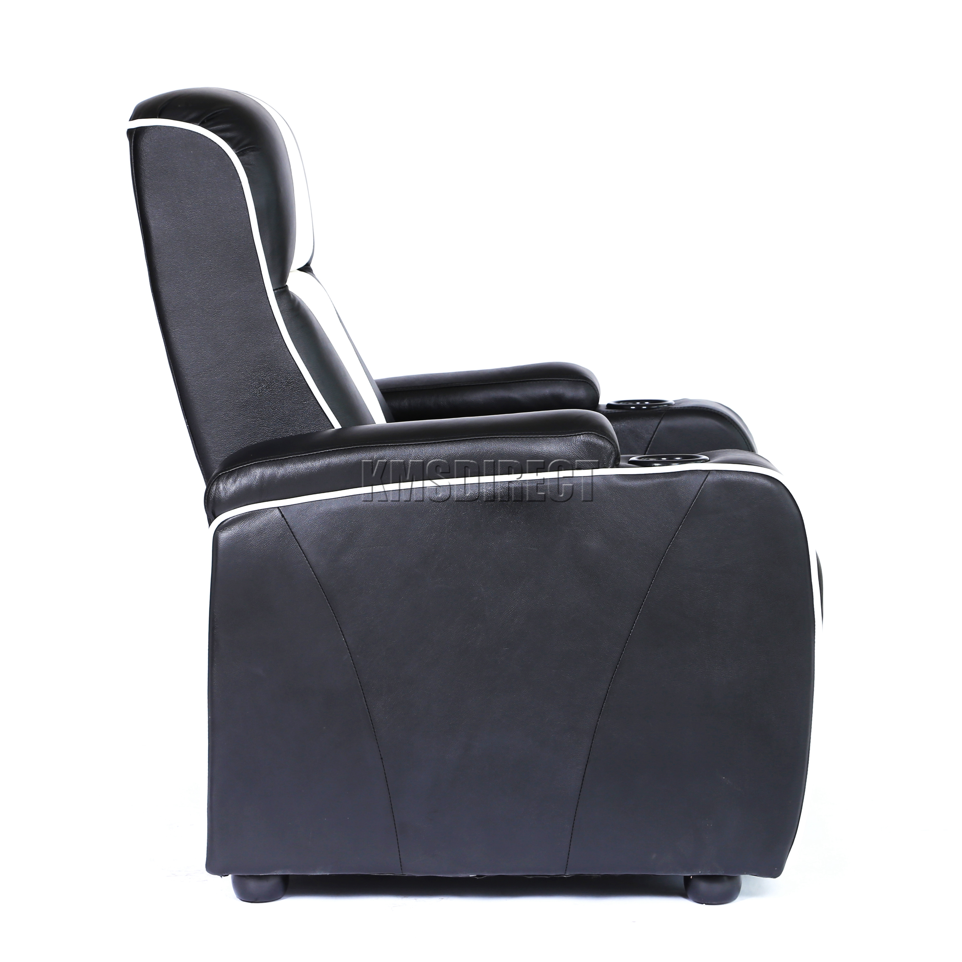 Leather Electric Recliner Sofa Uk: FoxHunter Leather Retro Theatre Cinema Movie Chair Sofa
